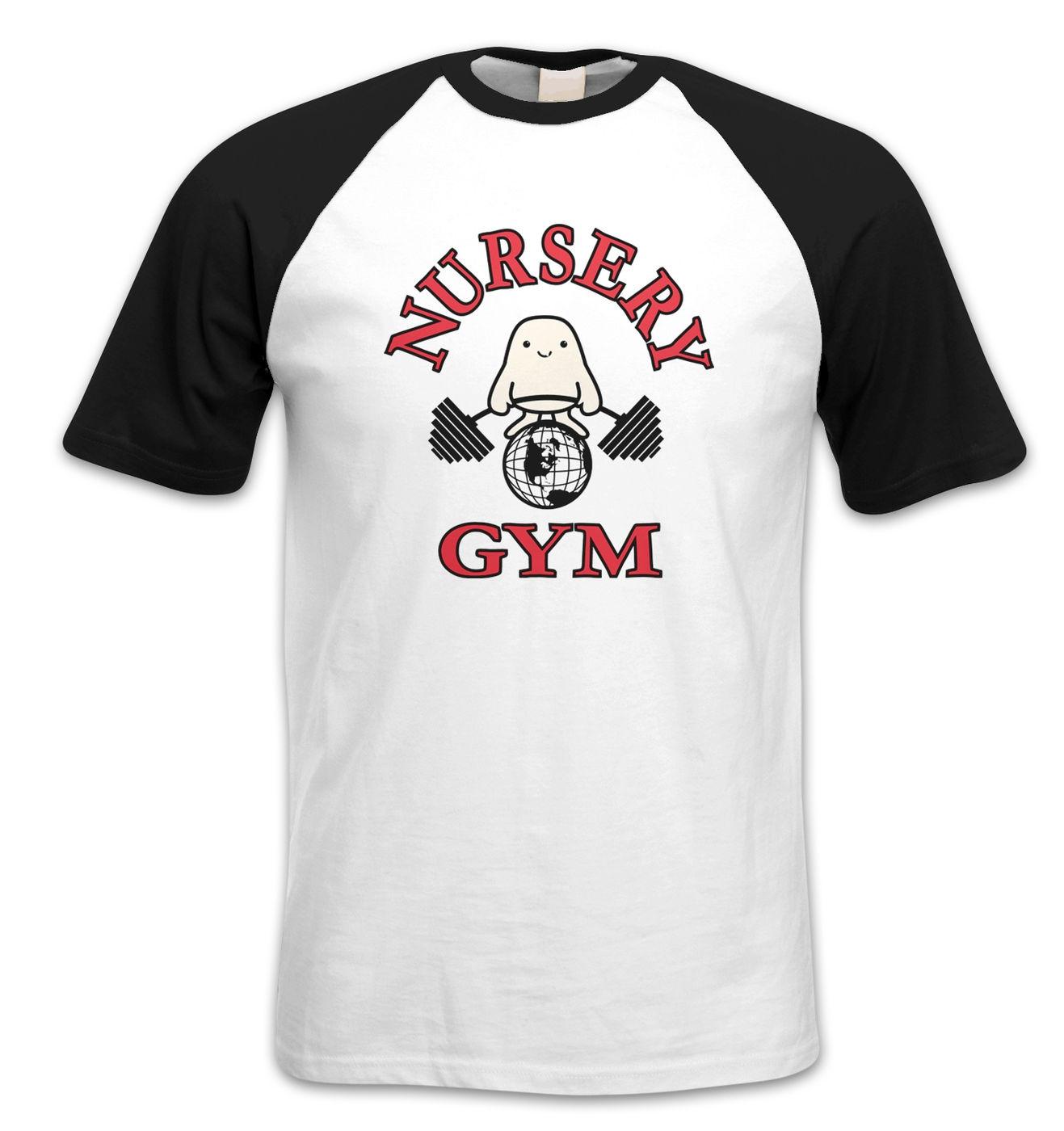 Nursery Gym short sleeve baseball t-shirt by Something Geeky