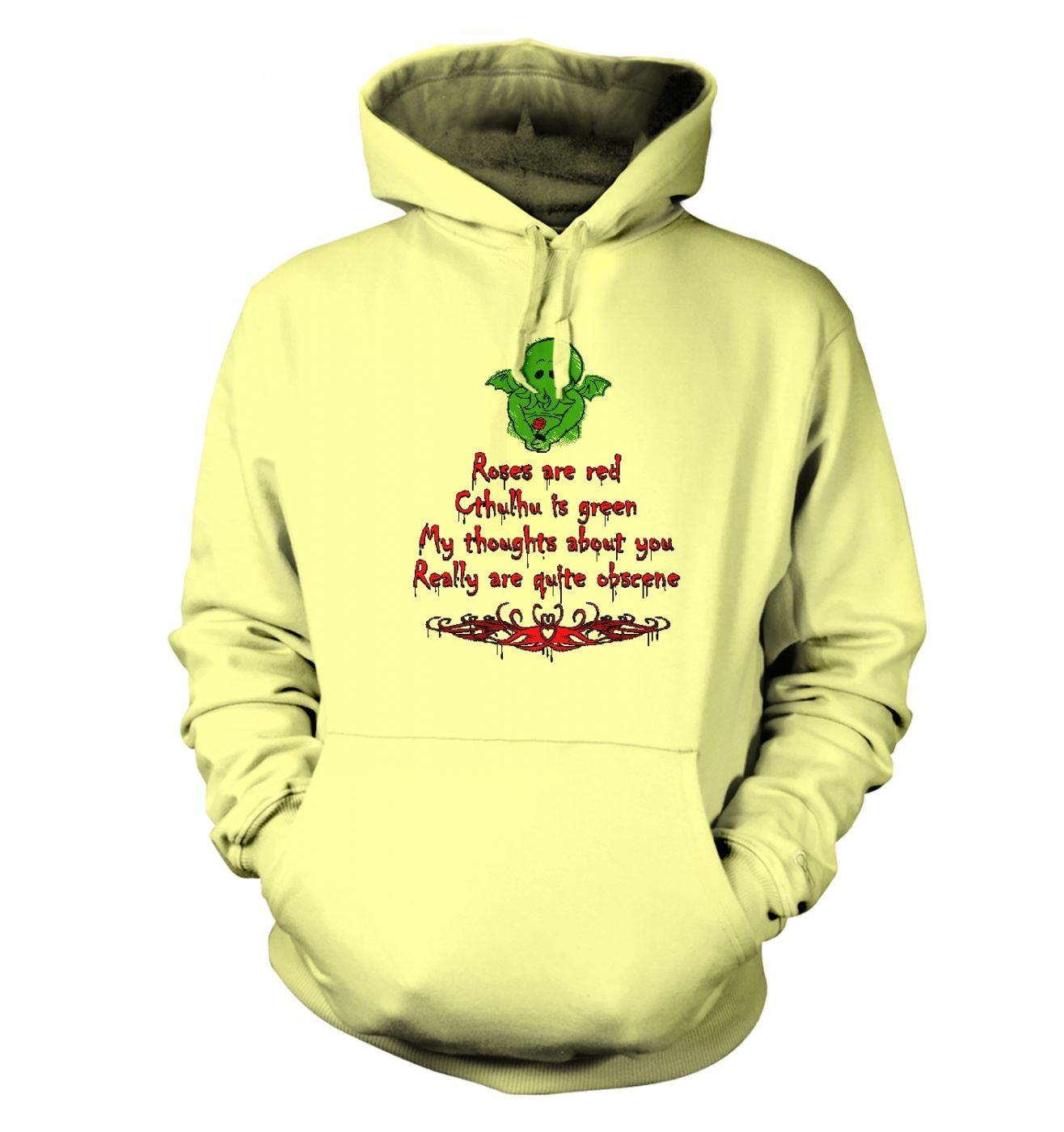 Obscene Cthulhu valentine hoodie