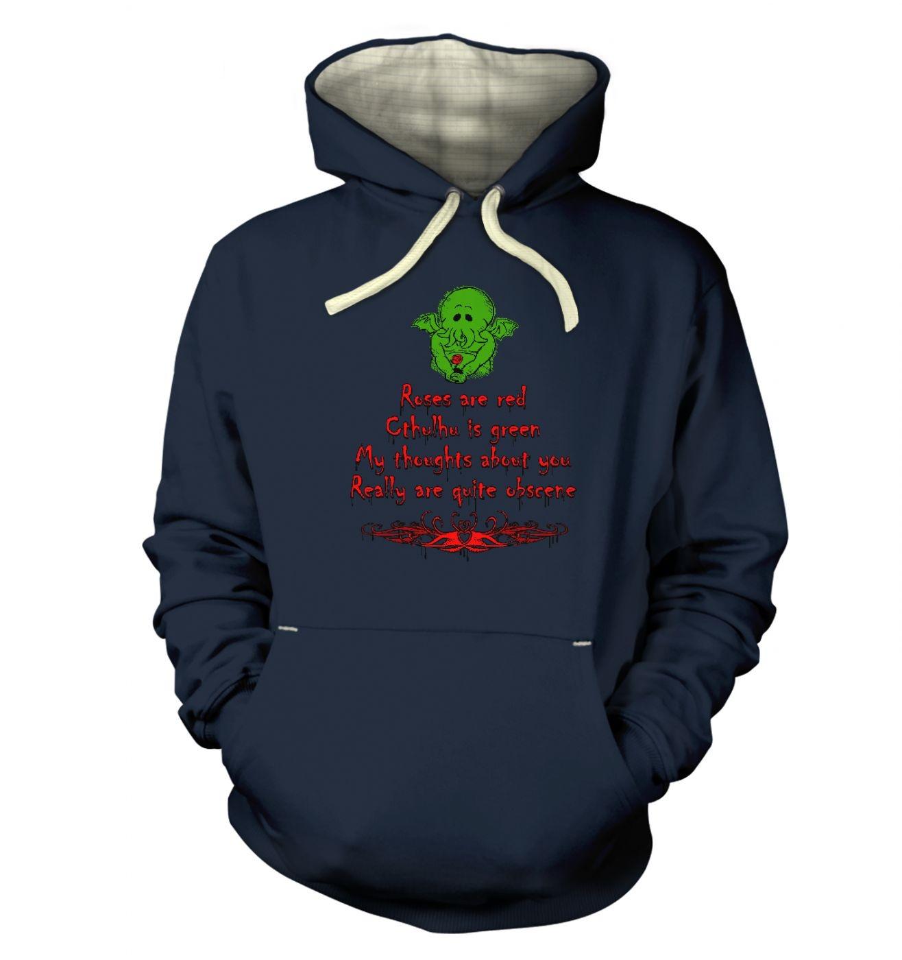 Obscene Cthulhu Valentine hoodie (premium)