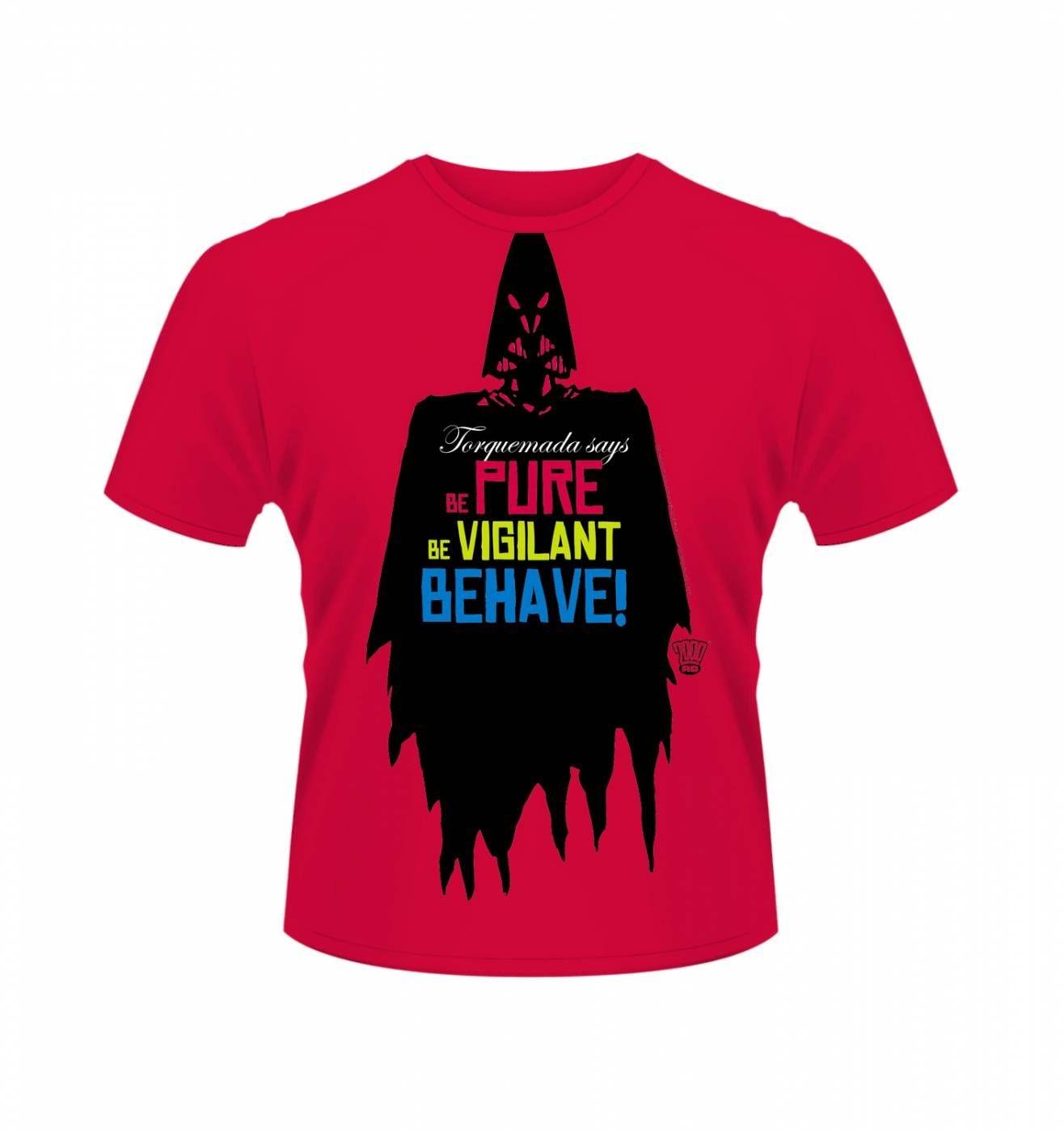 OFFICIAL 2000AD Torquemada Be Pure t-shirt