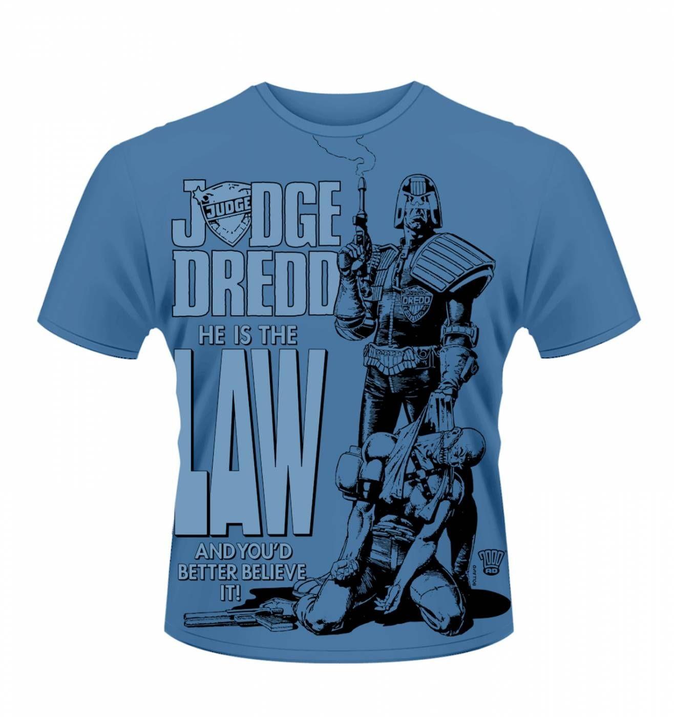 OFFICIAL Judge Dredd He Is The Law men's t-shirt