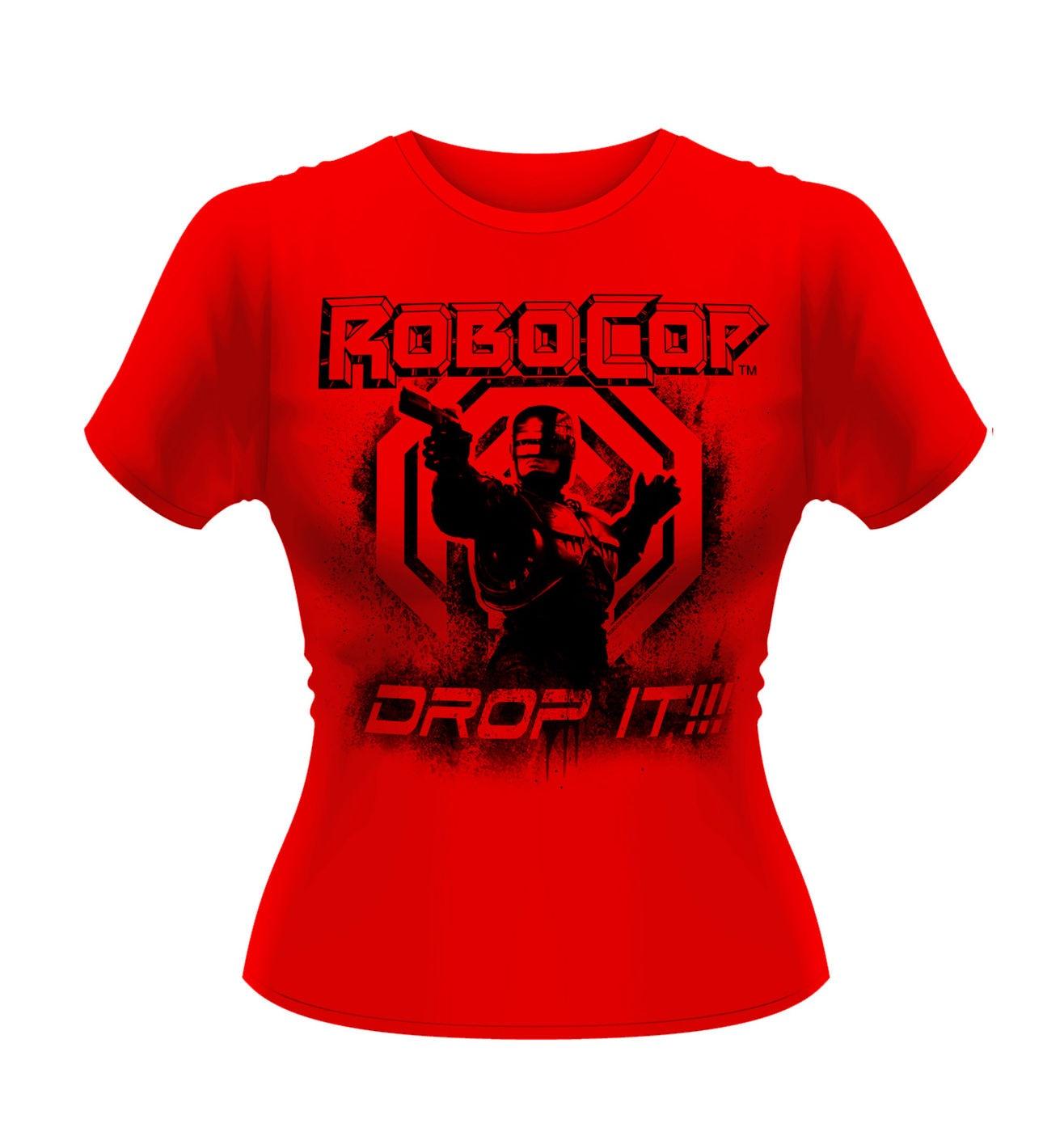 OFFICIAL Robocop Drop It women's fitted t-shirt