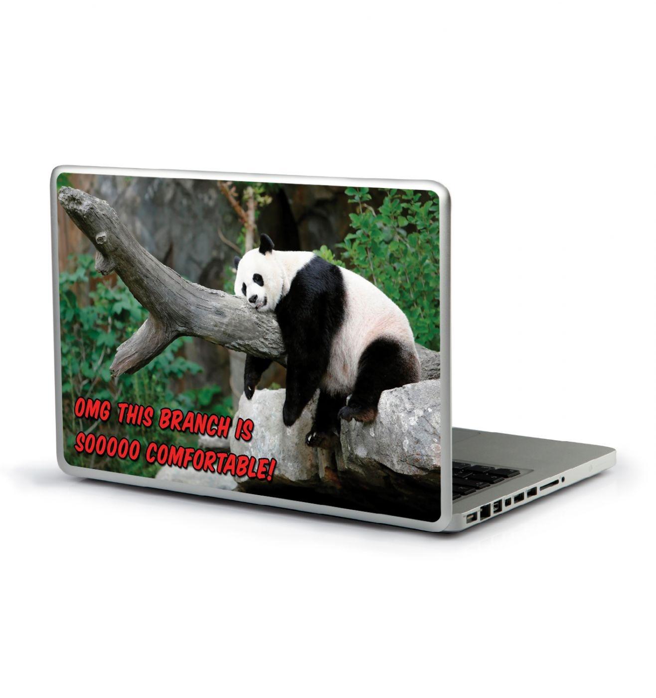 OMG Comfortable Branch Panda laptop sticker