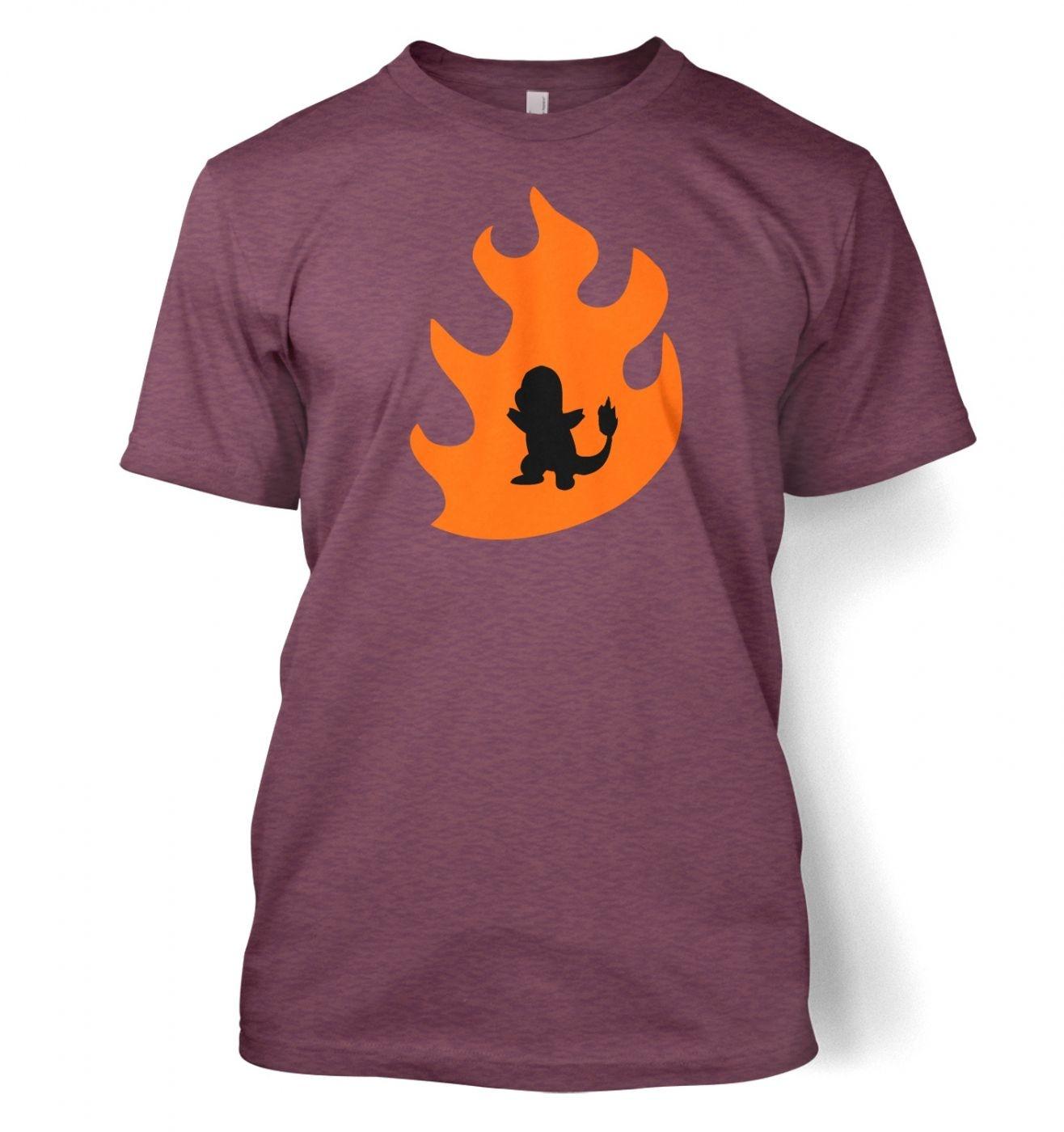 Orange Charmander Silhouette T-Shirt - Inspired by Pokemon