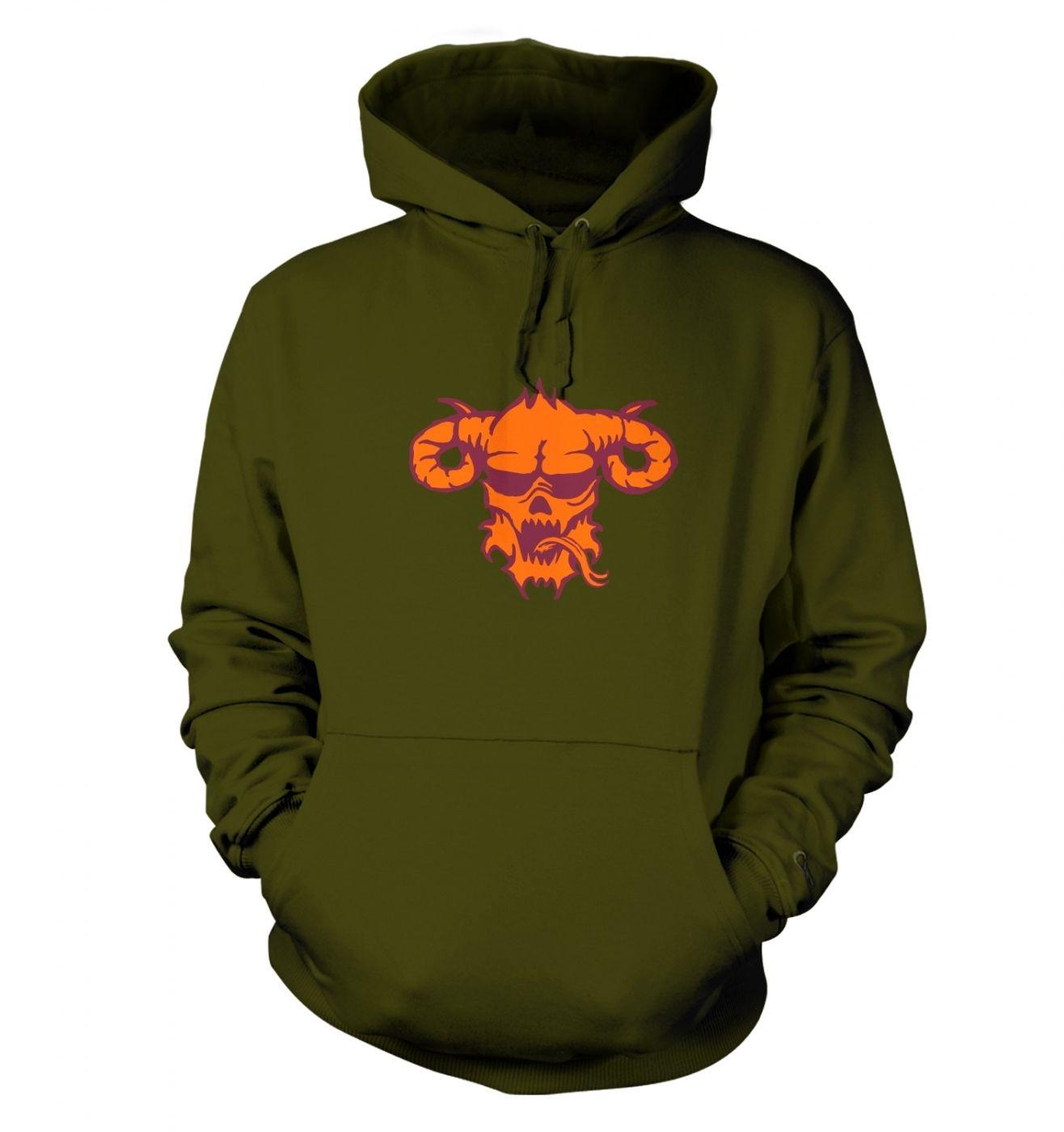 Orange Demon's Head hoodie