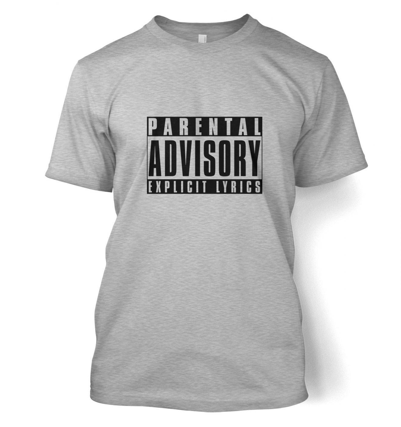 Parental Advisory Explicit Lyrics t-shirt