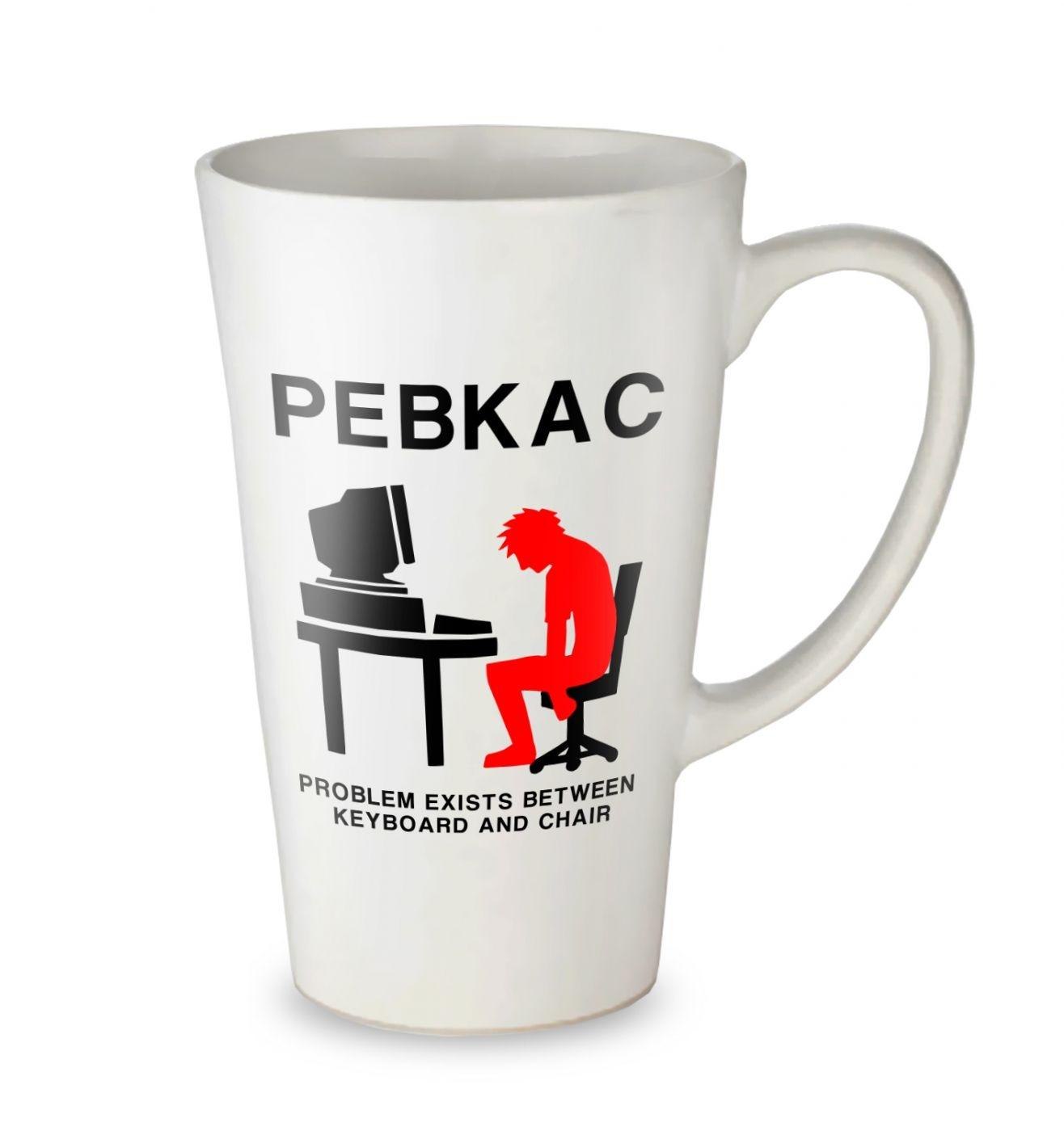 PEBKAC tall latte mug