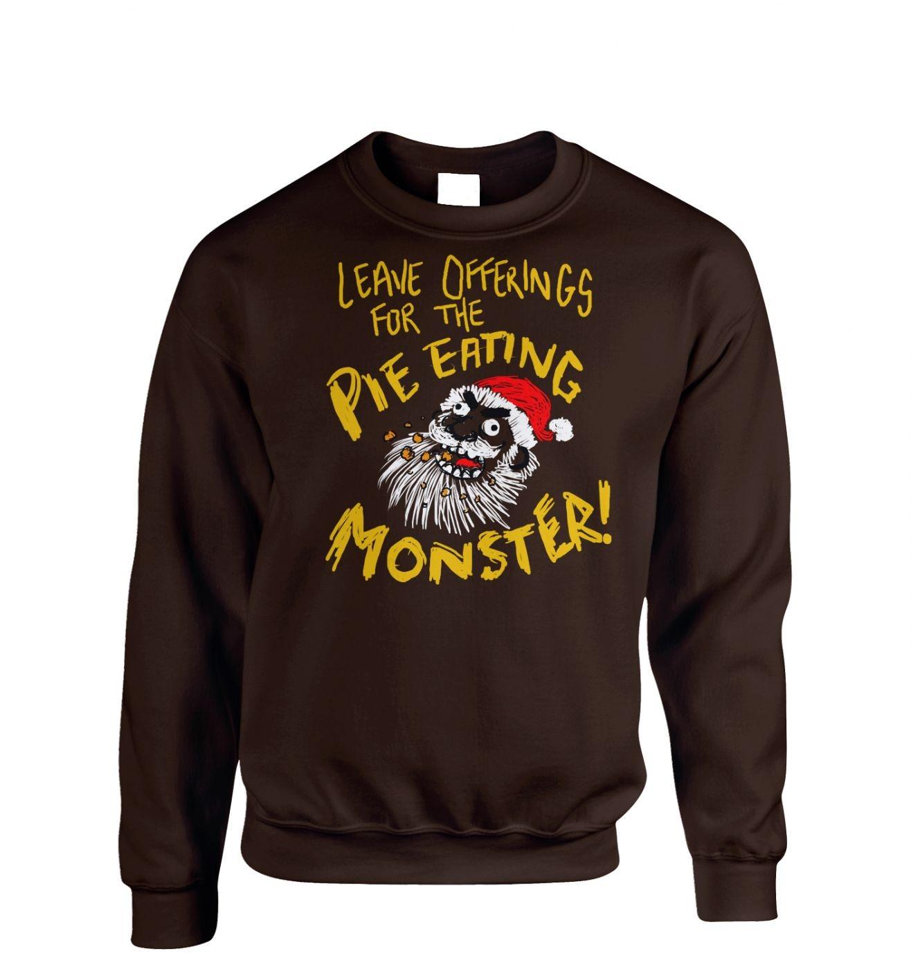 Pie Monster Adult Crewneck Sweatshirt