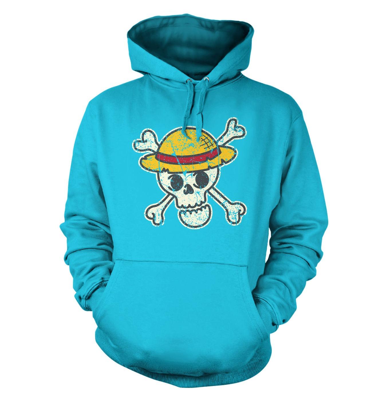 Pirate Skull Distressed hoodie by Something Geeky