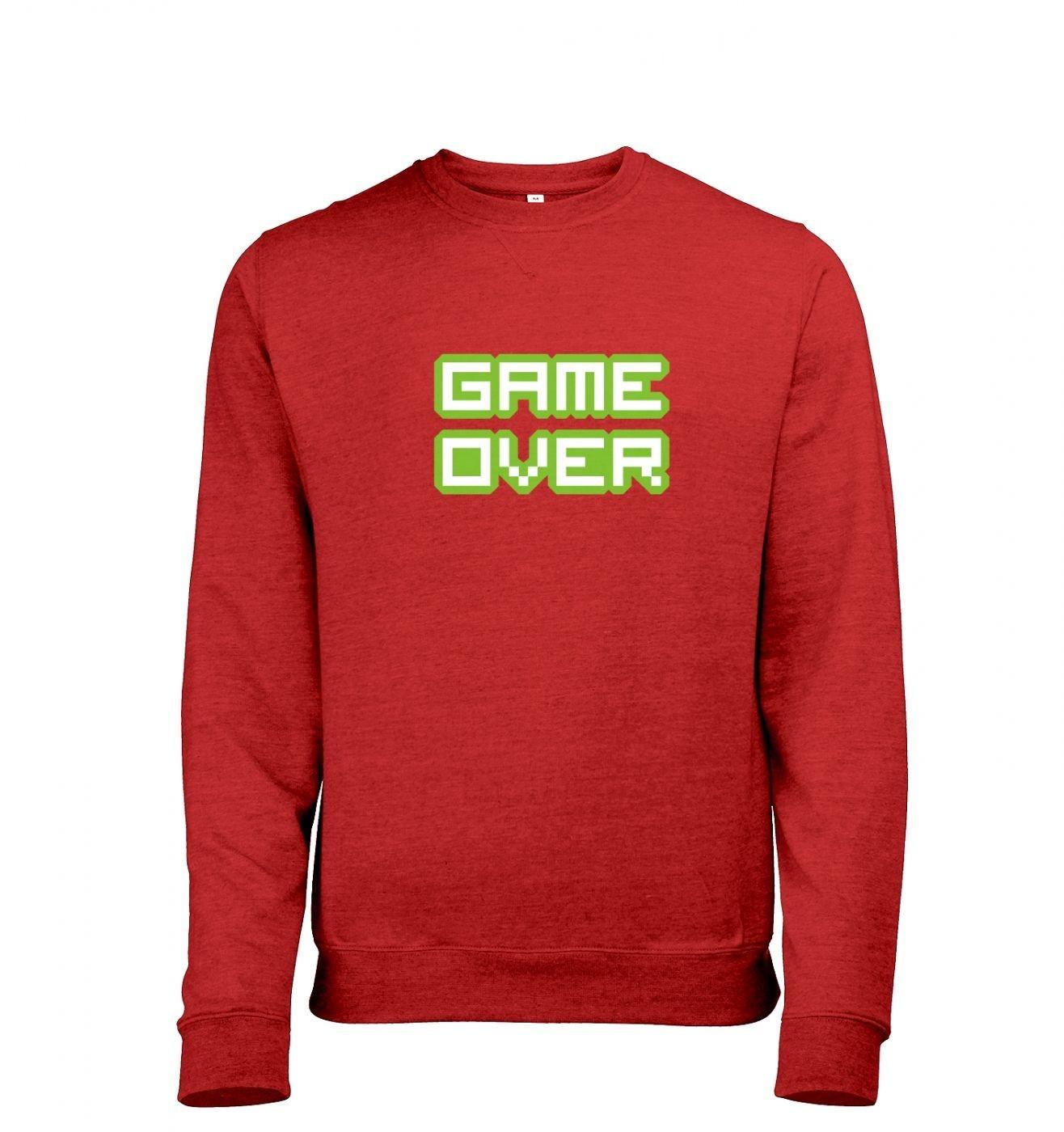 Pixelated Game Over men's heather sweatshirt