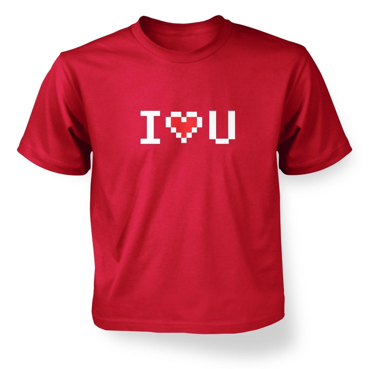 Pixelated I Heart U kids t-shirt