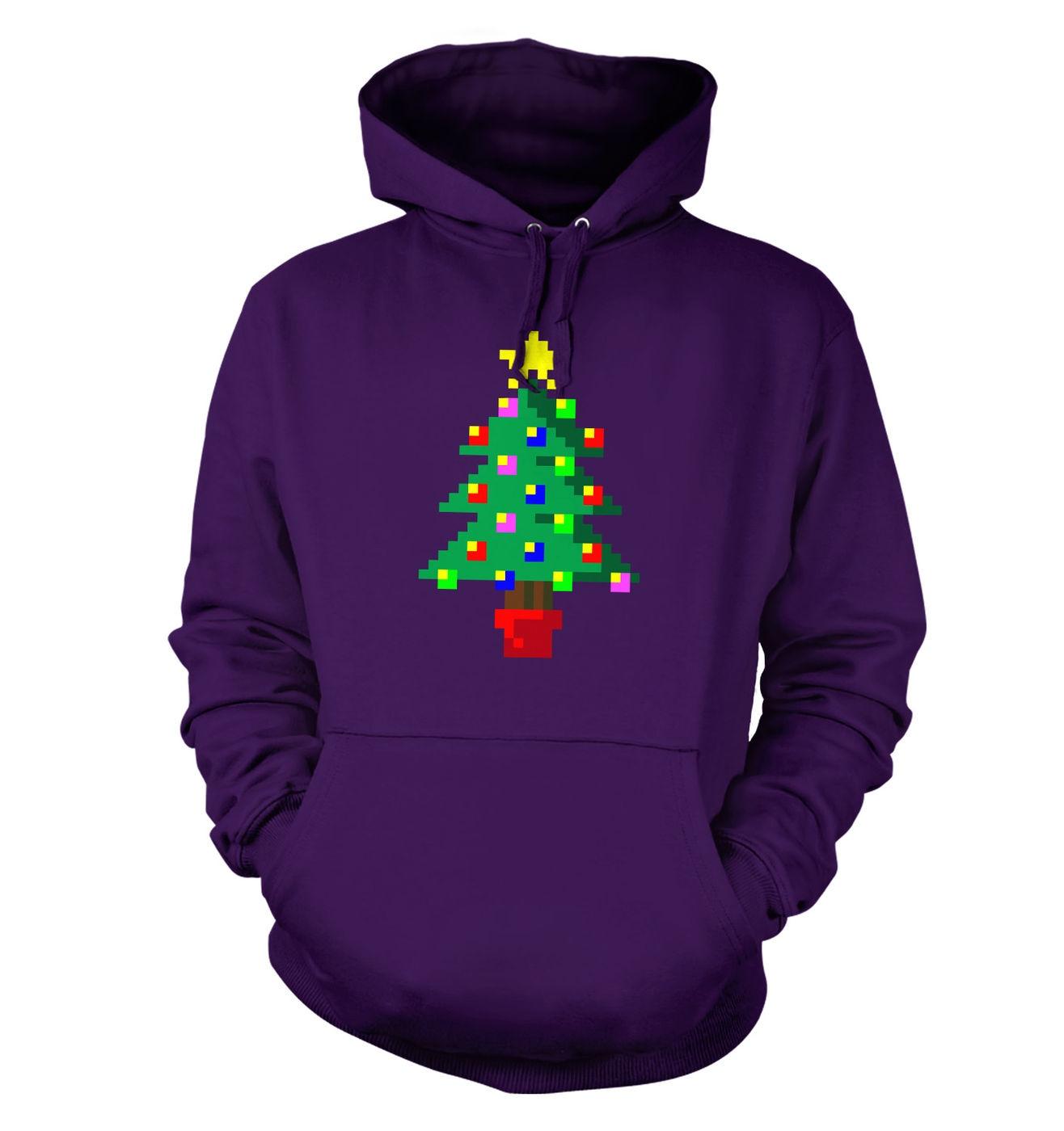Pixellated Christmas Tree hoodie