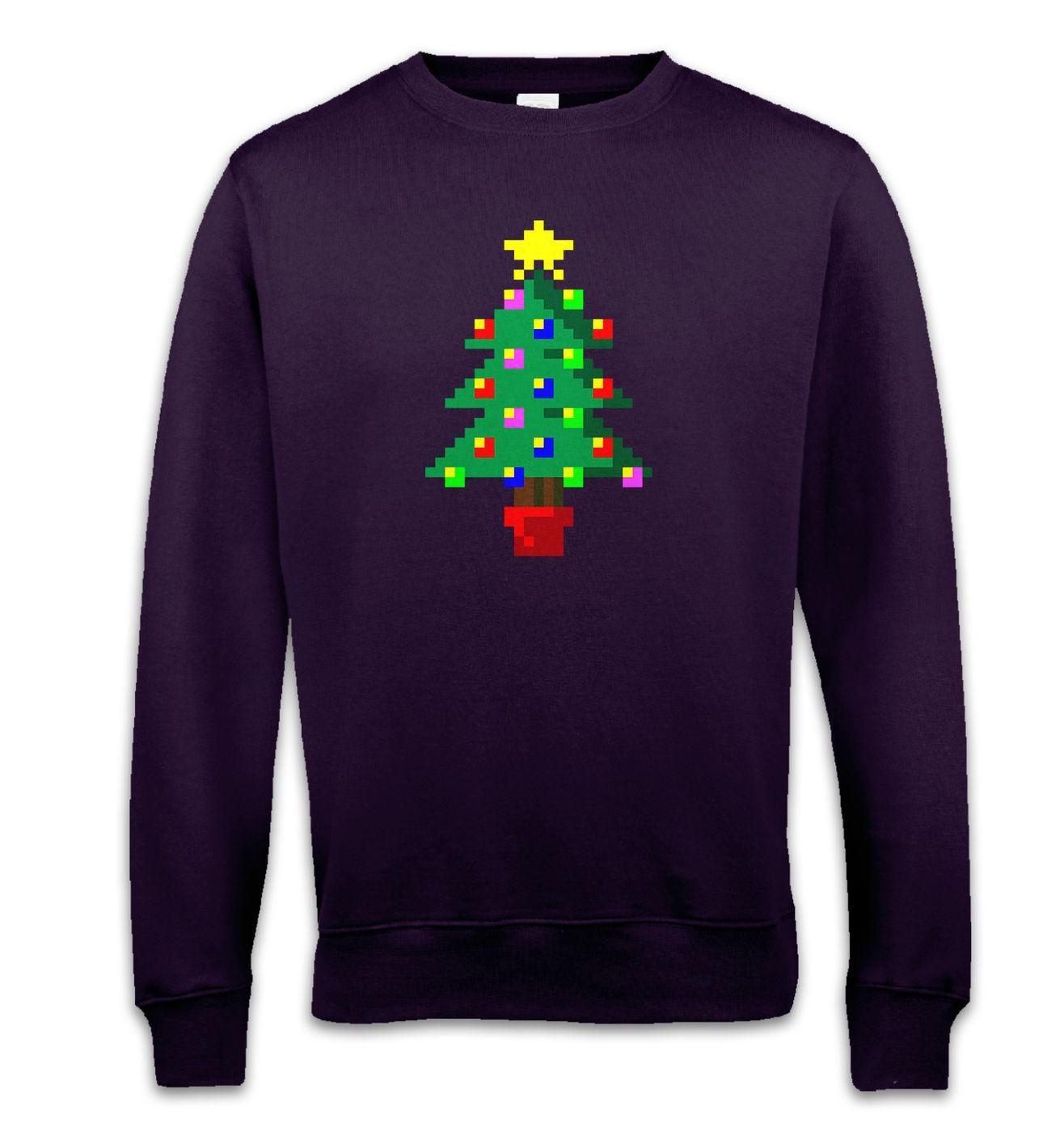 Pixellated Christmas Tree sweatshirt