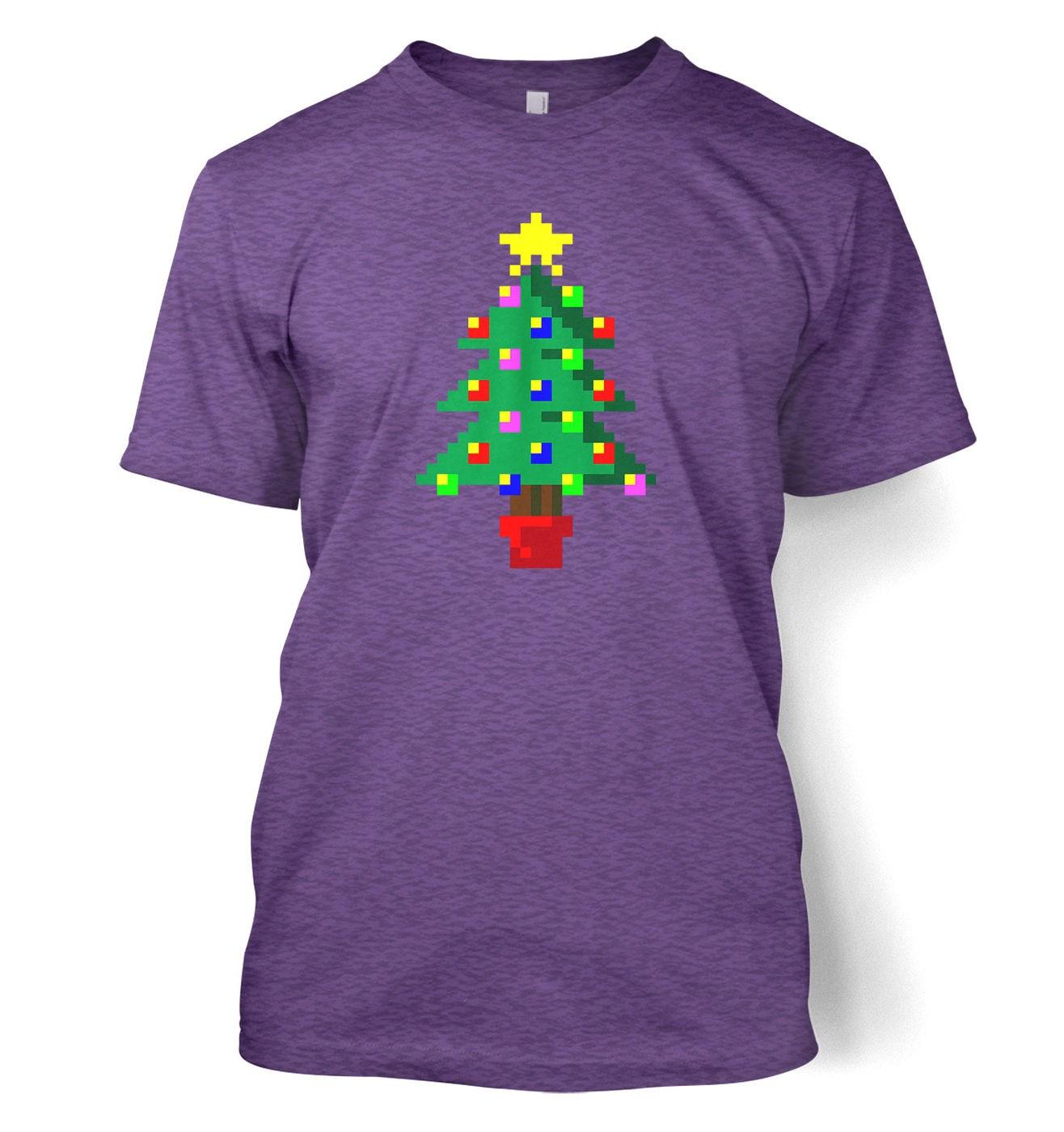 Pixellated Christmas Tree t-shirt