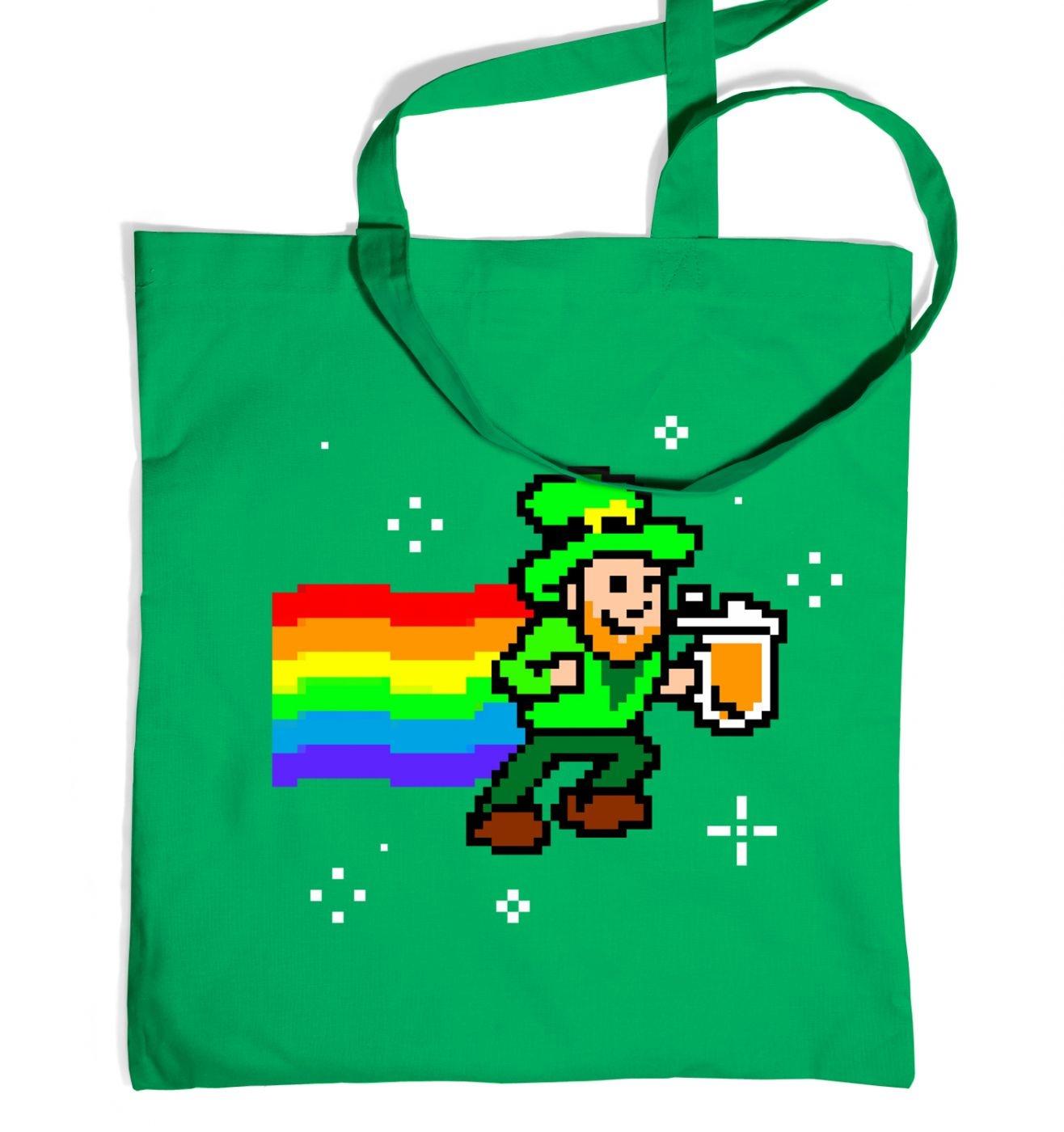 Pixelated Leprechaun tote bag