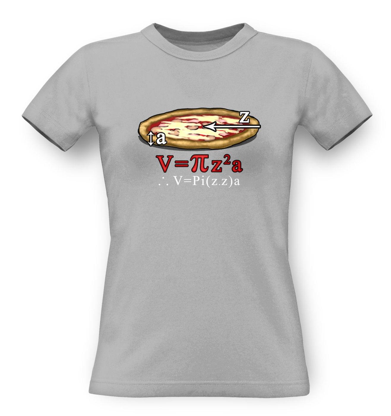 Pi.z.z.a. classic women's t-shirt by Something Geeky