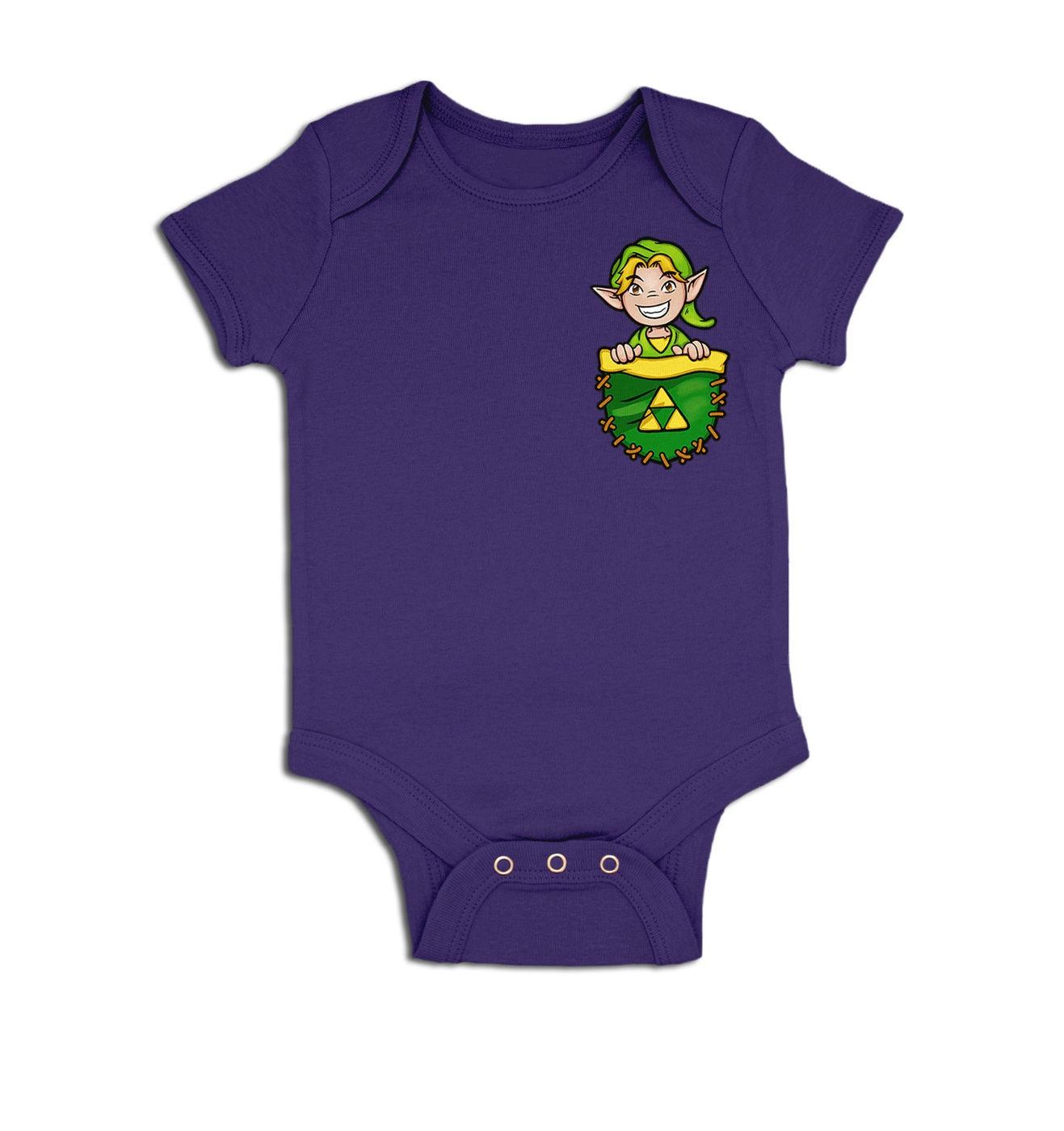 Pocket Hyrule Warrior baby grow by Something Geeky