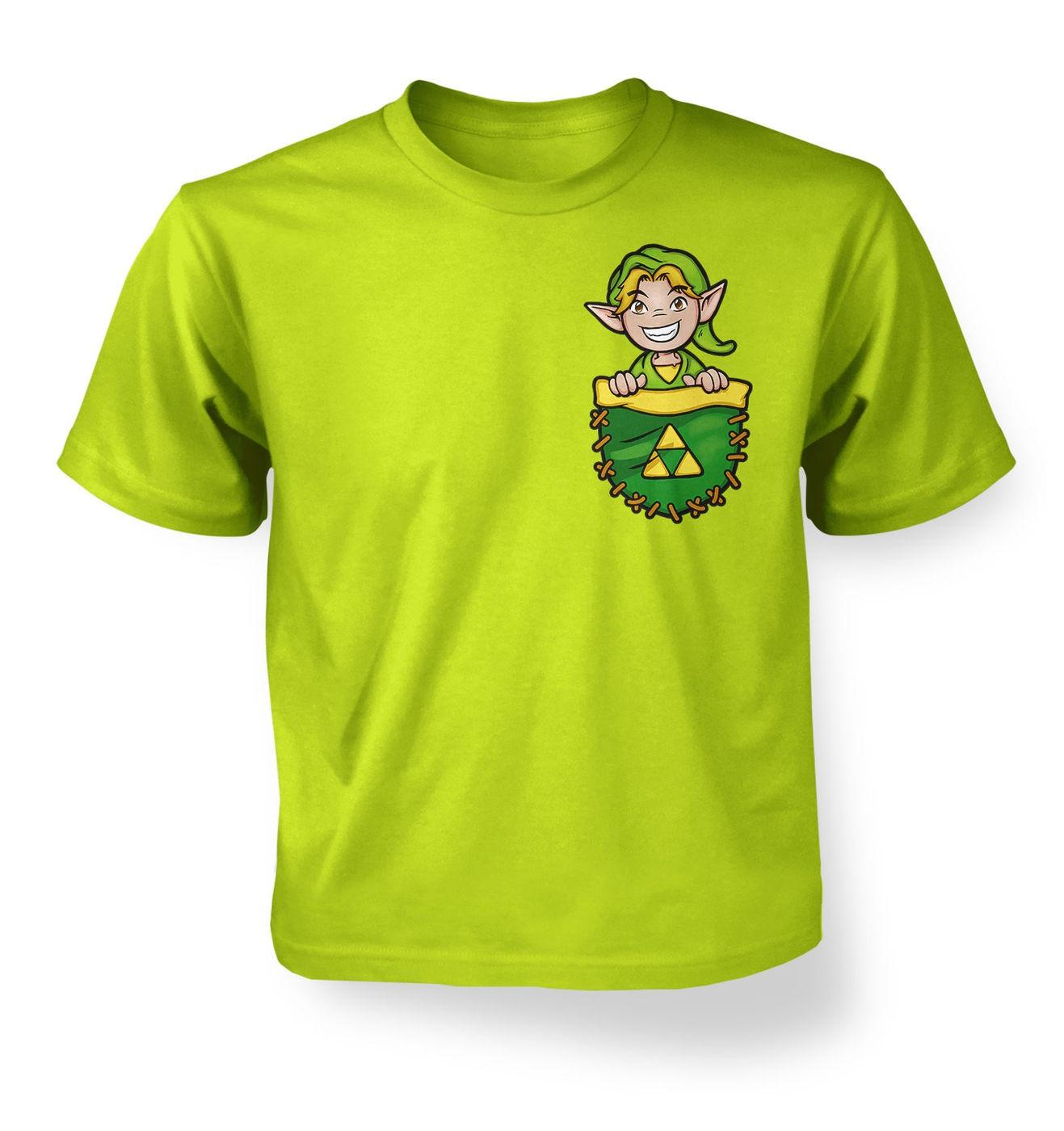 Pocket Hyrule Warrior kids t-shirt by Something Geeky