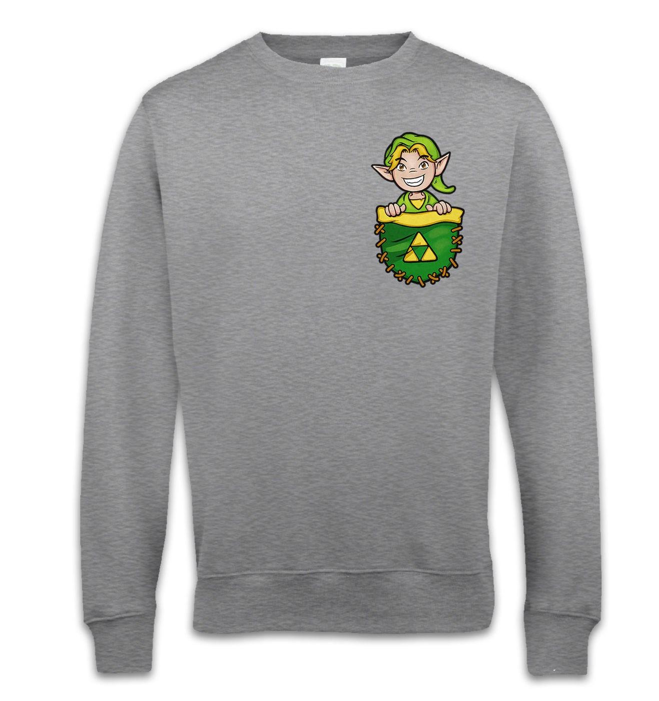 Pocket Hyrule Warrior sweatshirt by Something Geeky