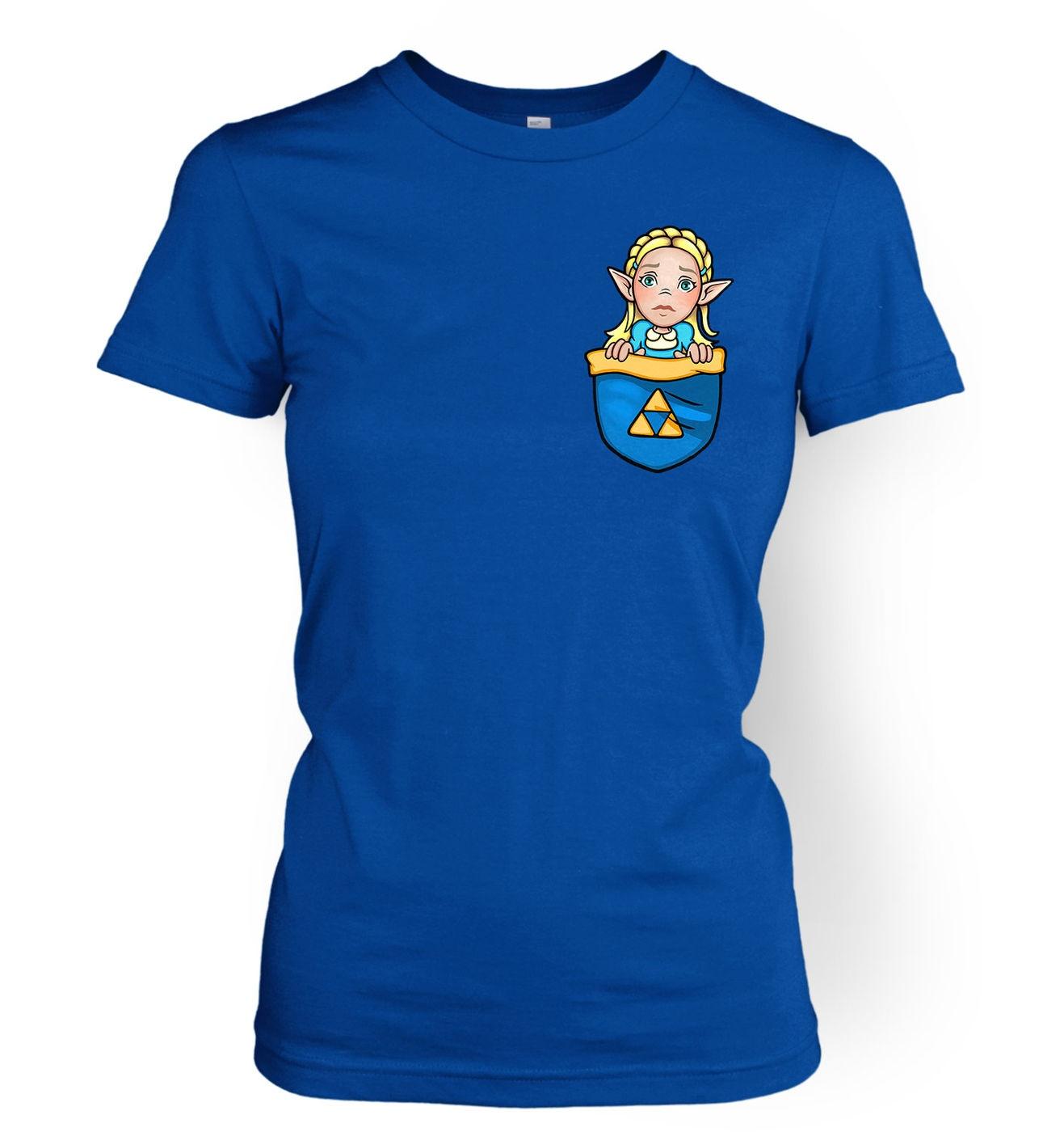 Pocket Zelda women's t-shirt by Something Geeky