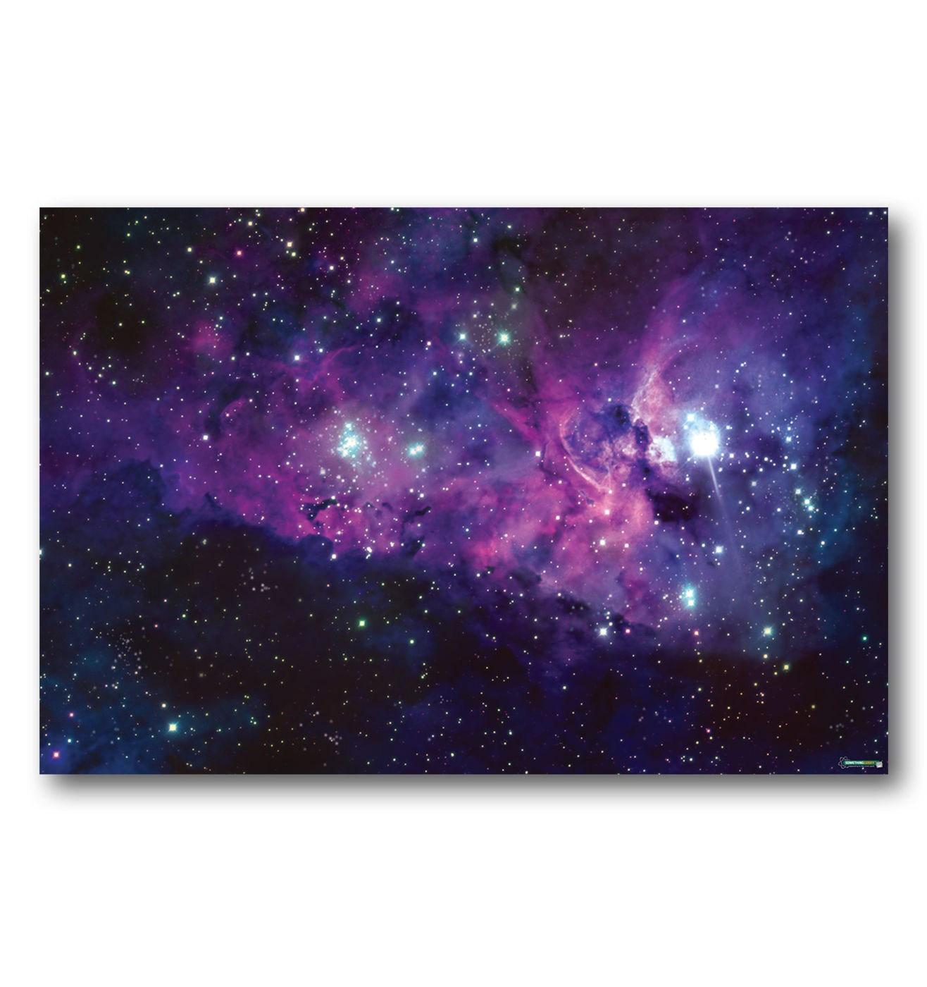 Purple Nebula gaming mat - stunning hardwearing hi res space battle mat