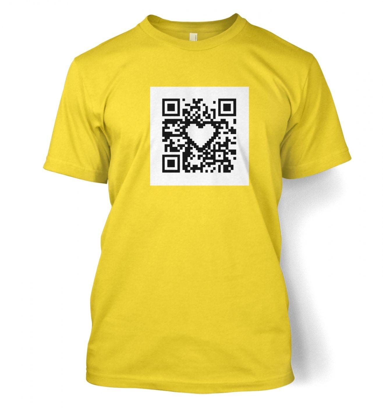 QR code heart t-shirt