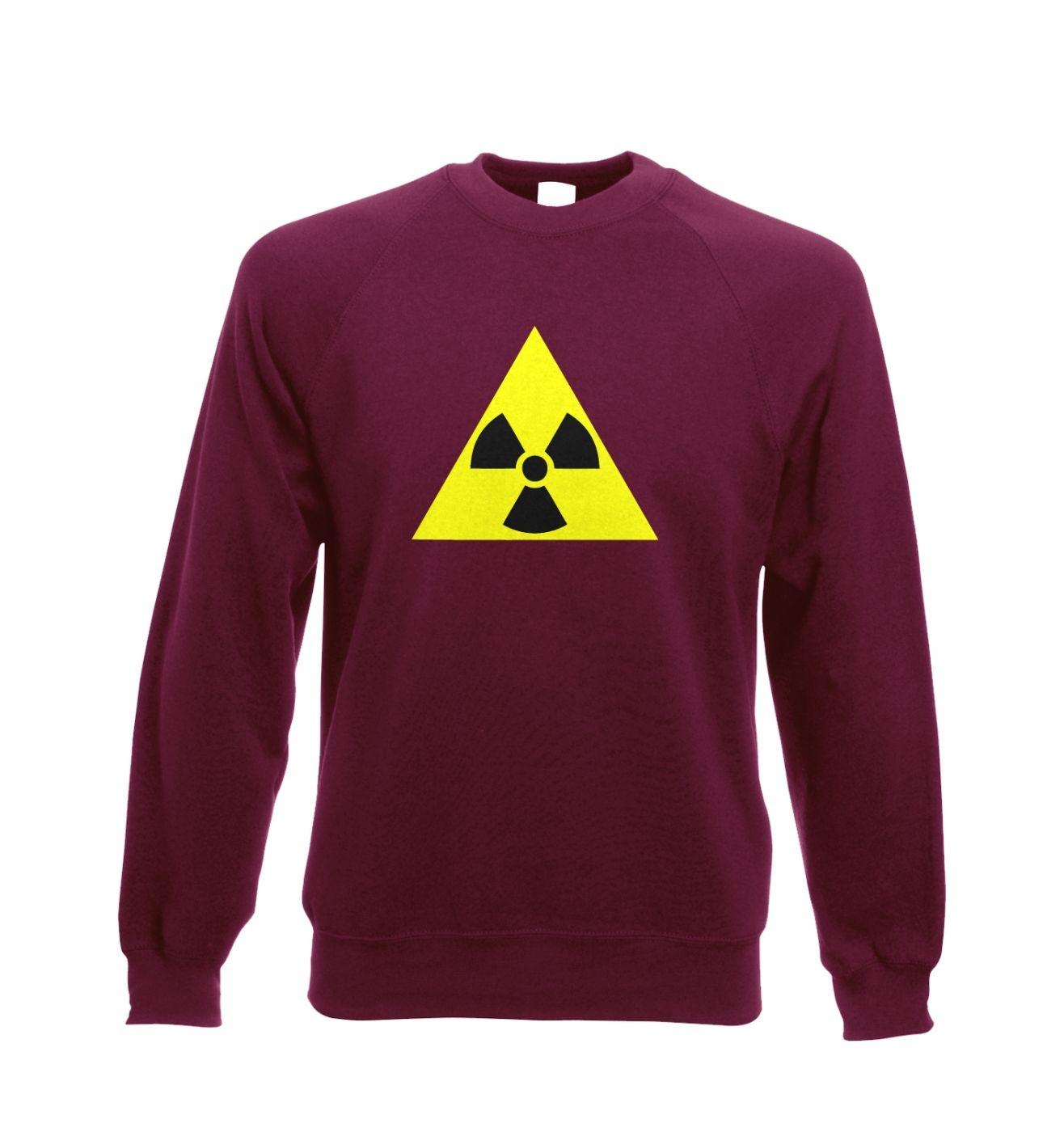 Radioactive Symbol Adult Crewneck Sweatshirt