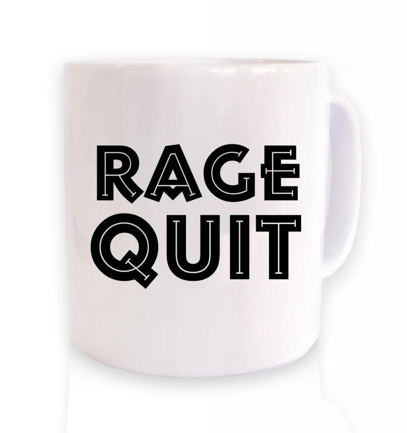 Rage Quit coffee ceramic coffee mug