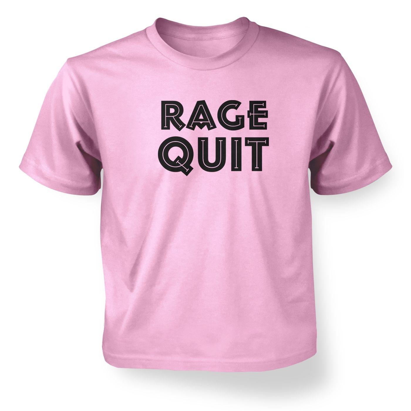 Rage Quit kids' t-shirt