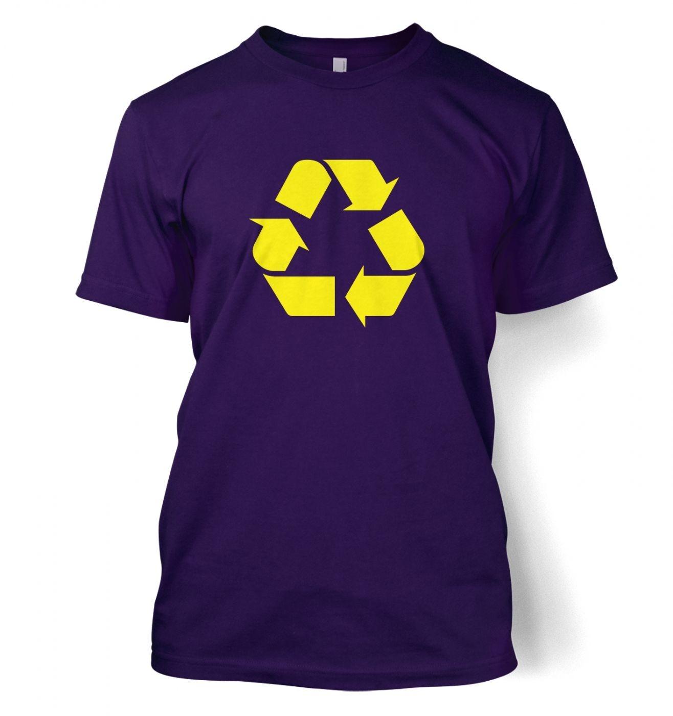 Yellow Recycling Symbol T-Shirt