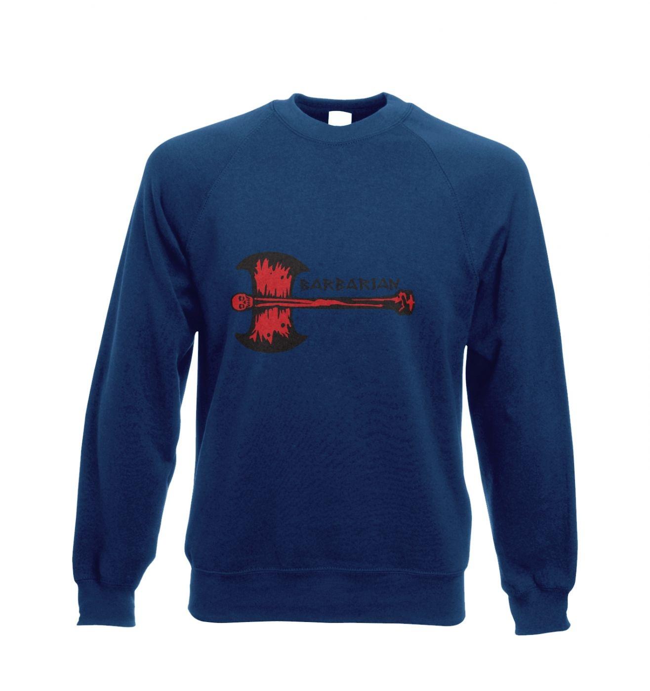 Red Barbarian Axe crewneck sweatshirt