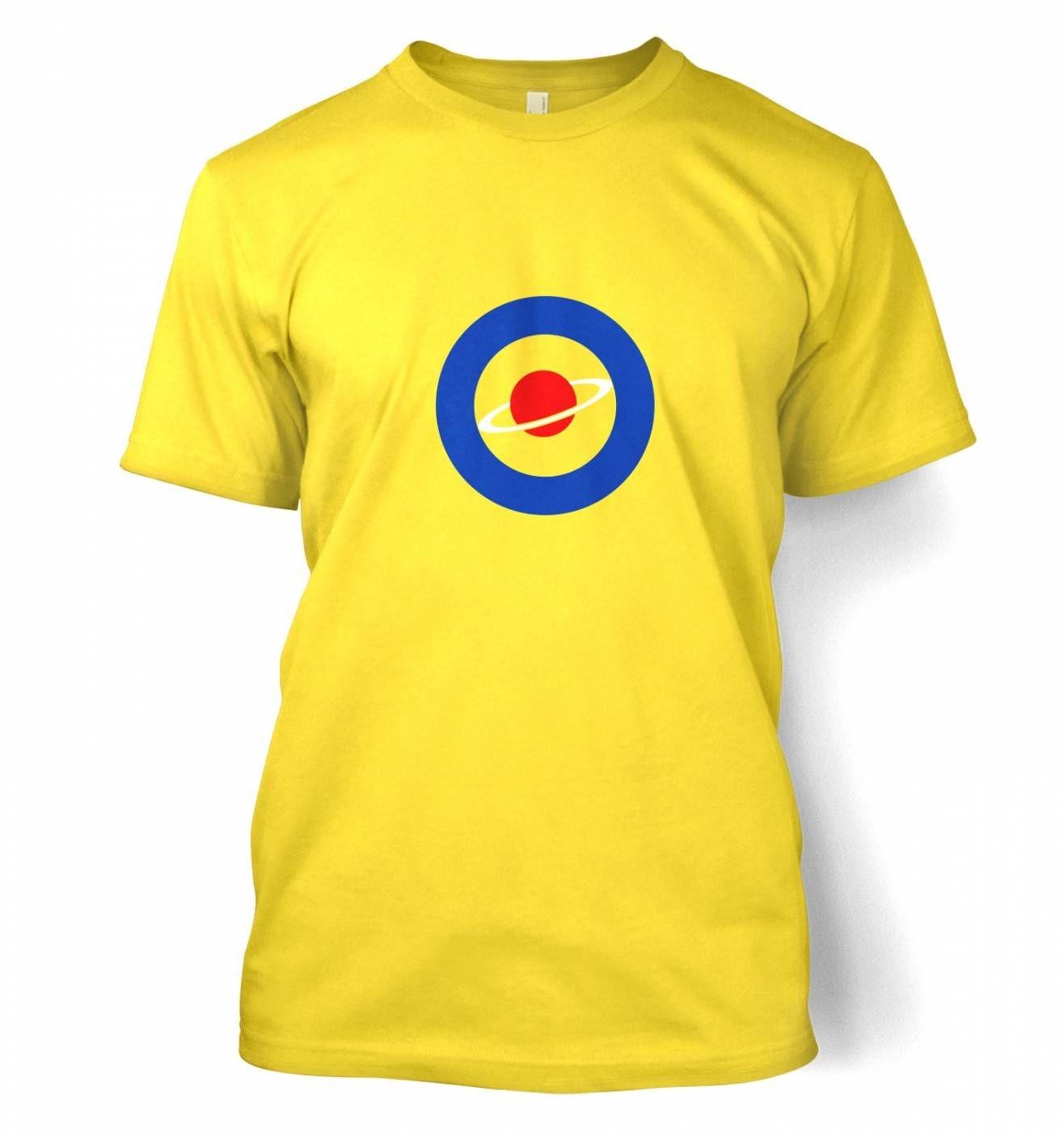 Red Saturn Blue Circle t-shirt