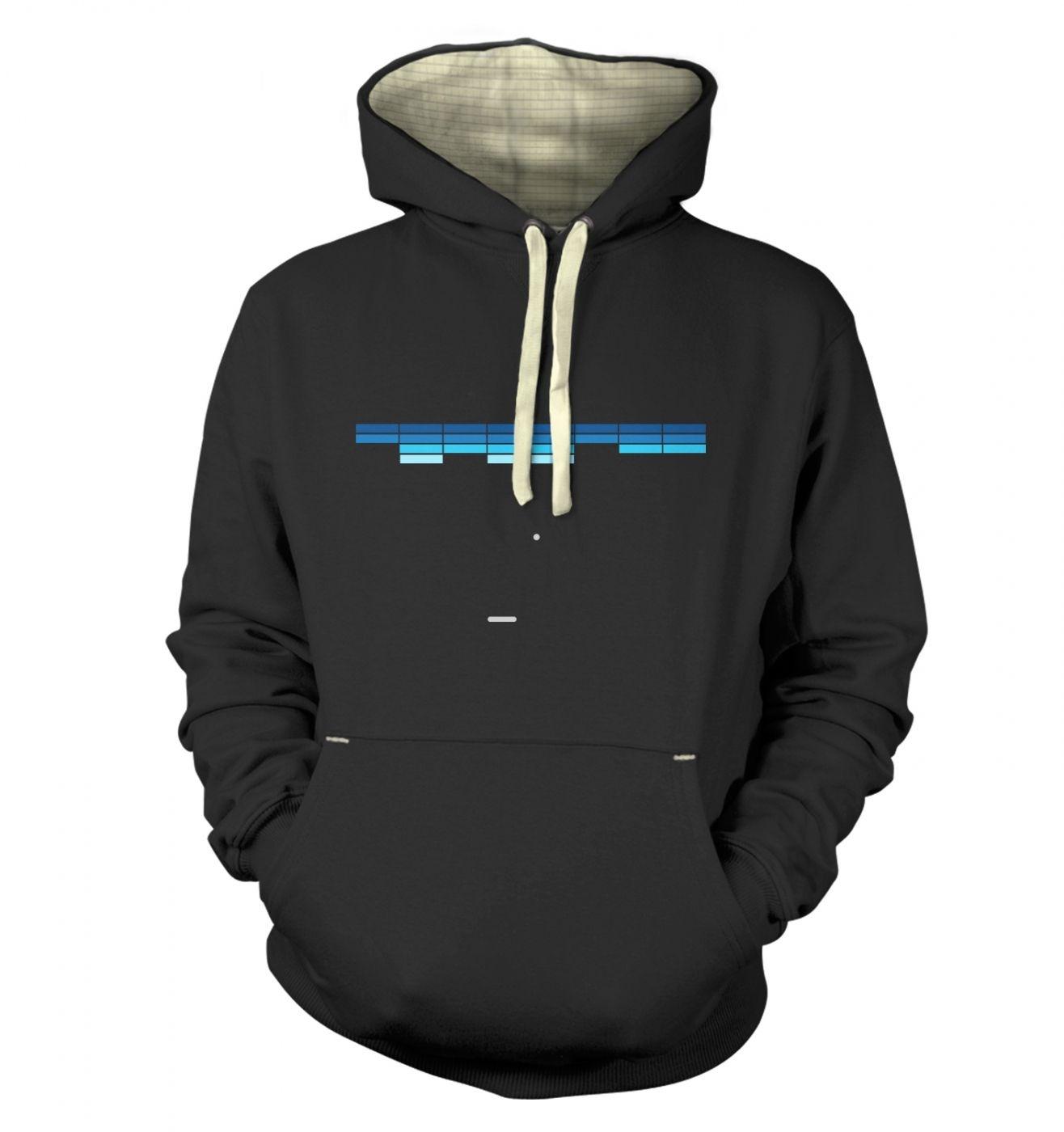 Retro Arcade Style (purple/blue) premium hoodie