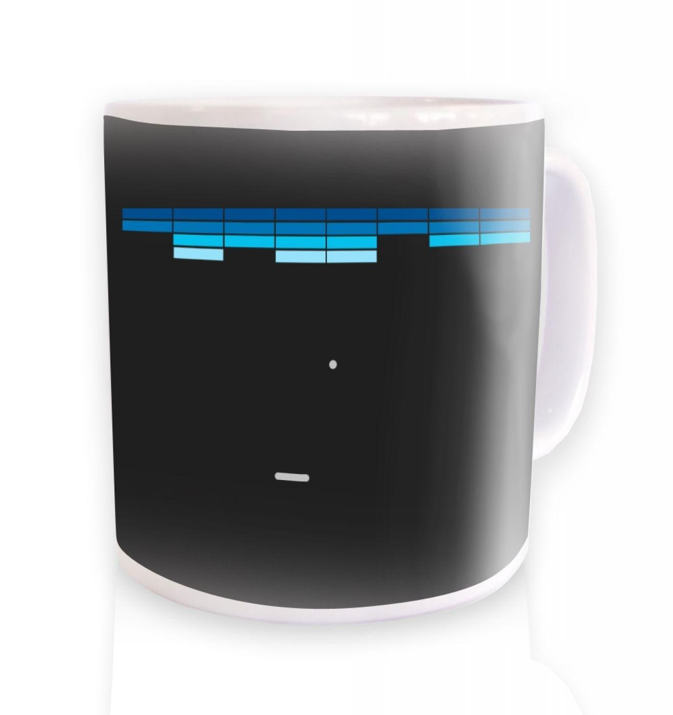 Retro Arcade Style (purple/blue) ceramic coffee mug