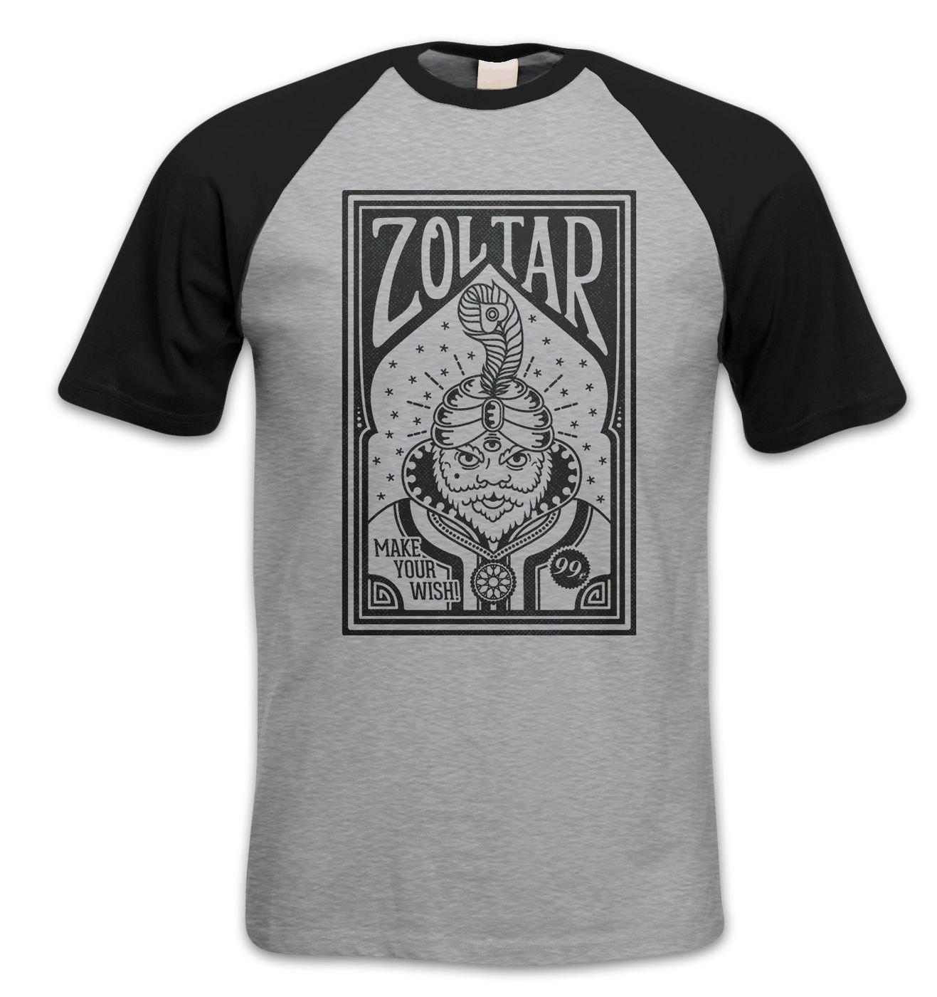 Retro Zoltar short sleeve baseball t-shirt by Something Geeky