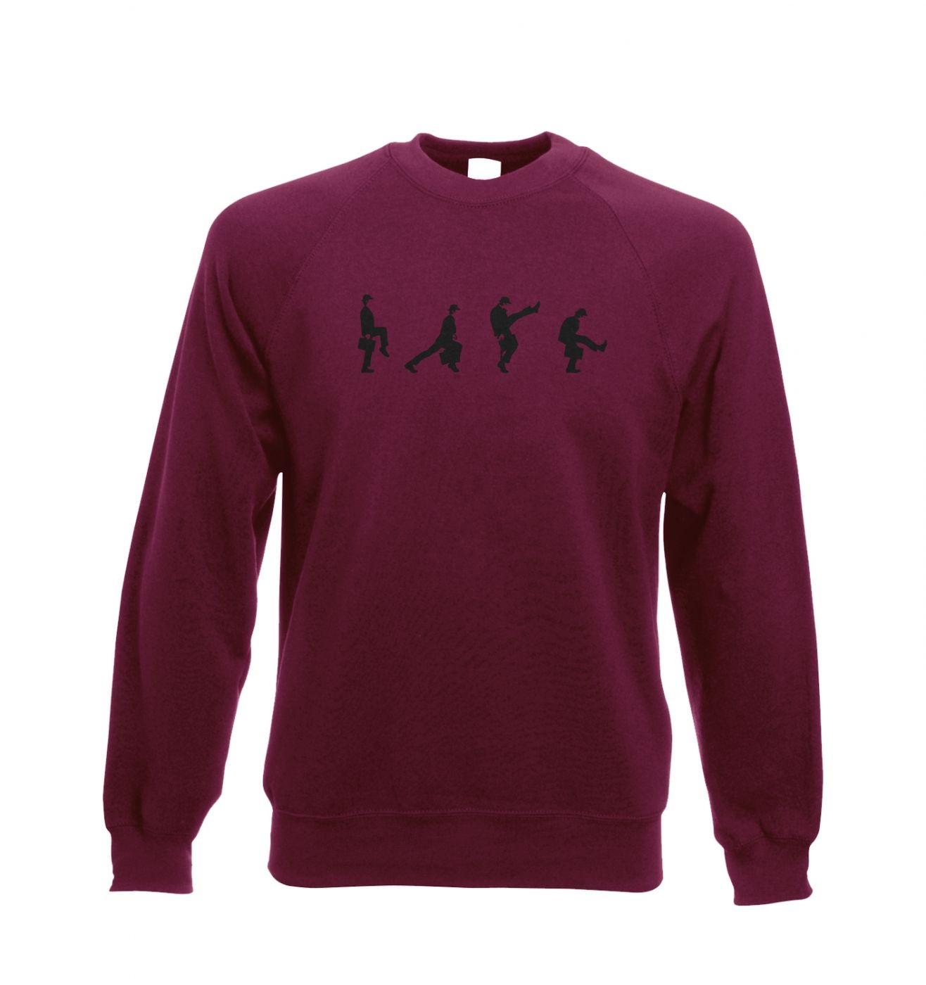 Row Of Silly Walks crewneck sweatshirt