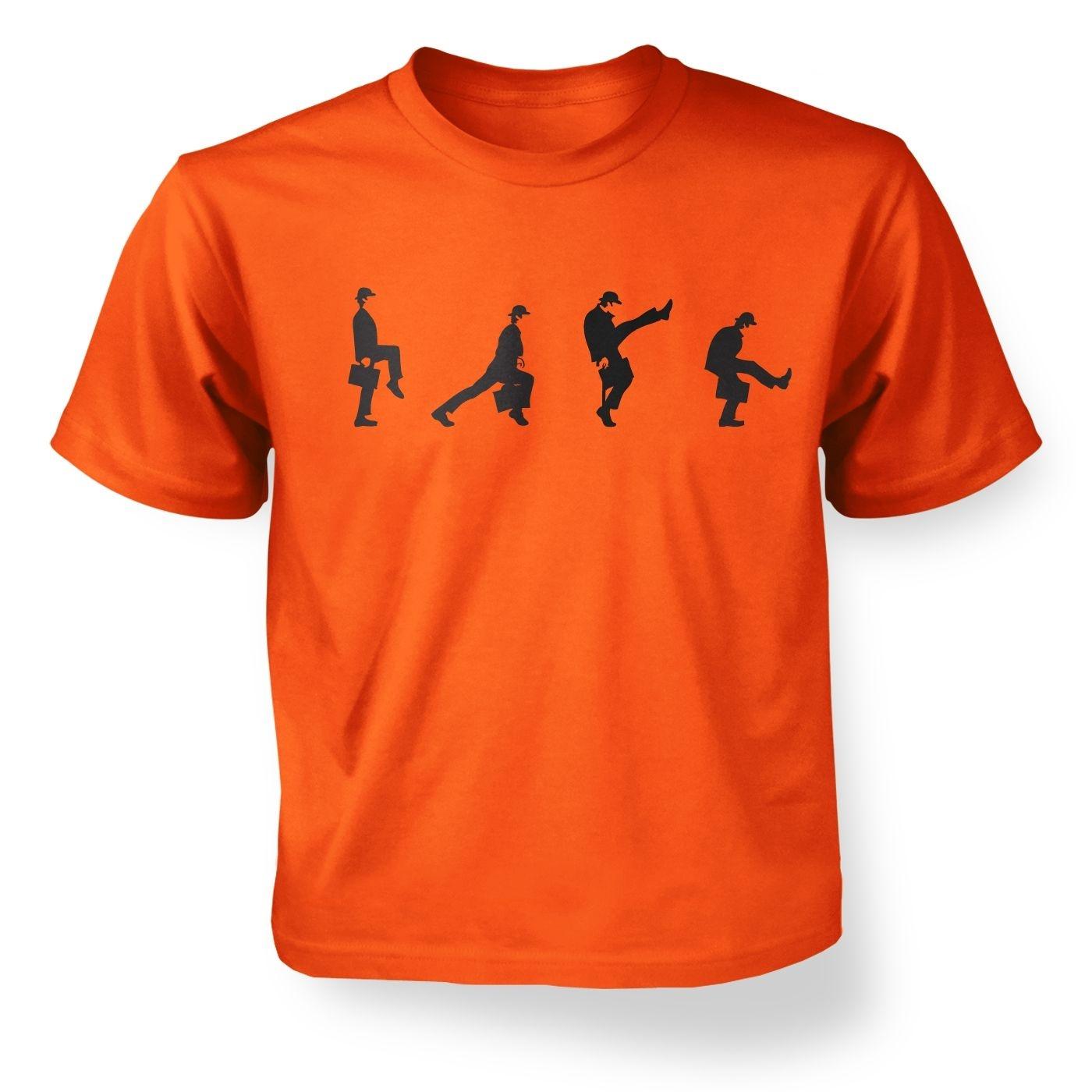 Row Of Silly Walks kids' t-shirt