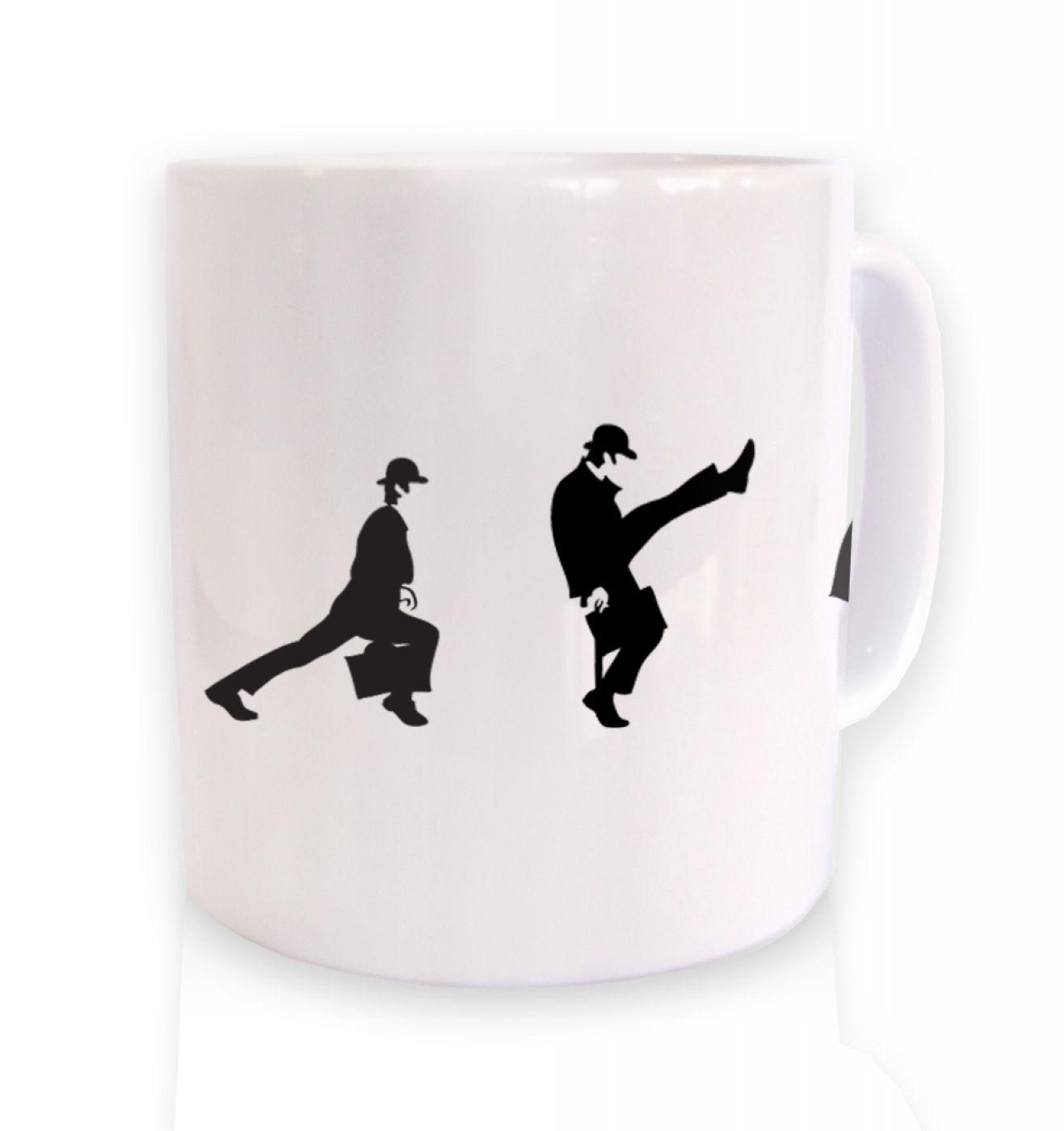 Row Of Silly Walks ceramic coffee mug