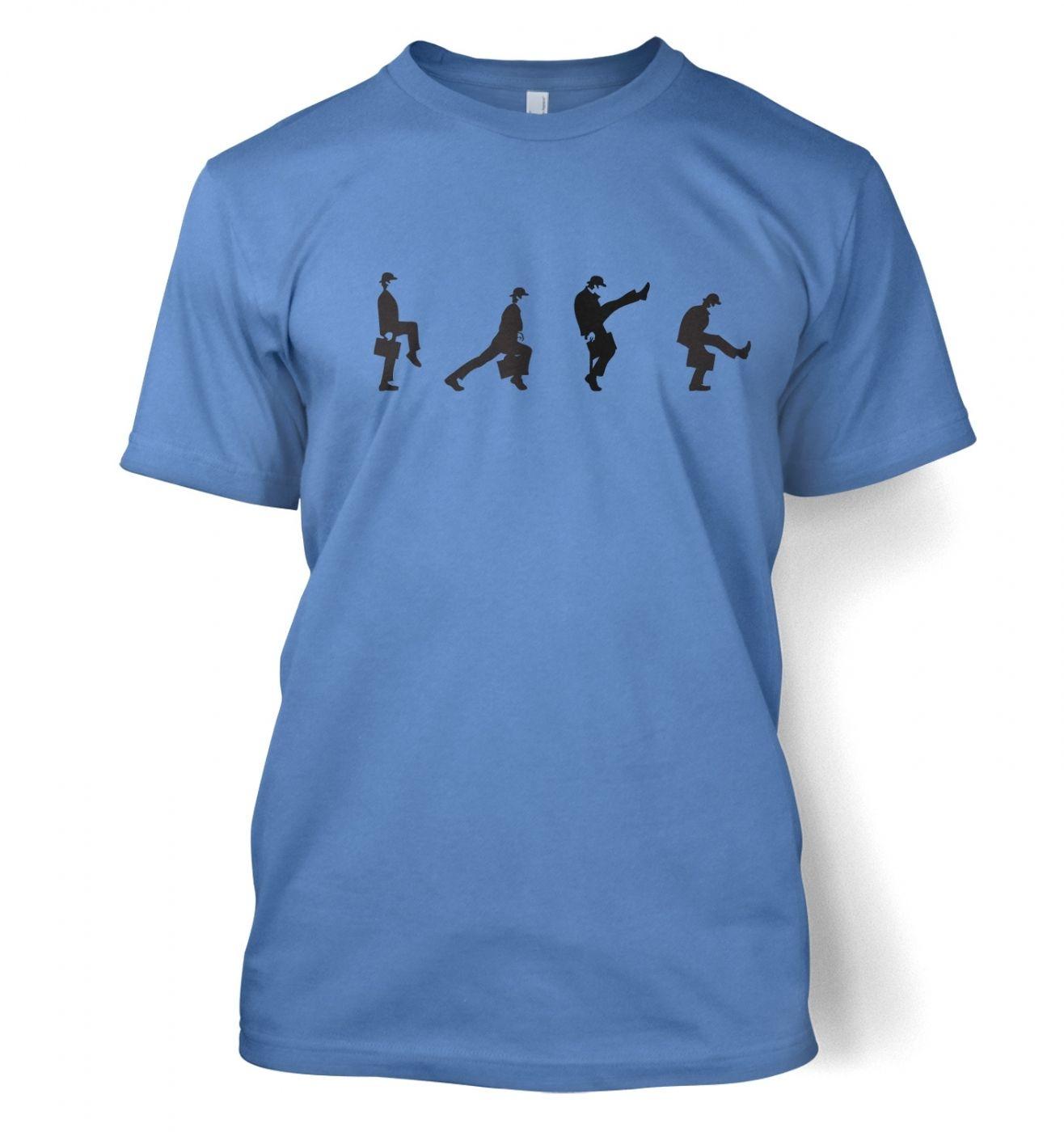 Row Of Silly Walks men's t-shirt