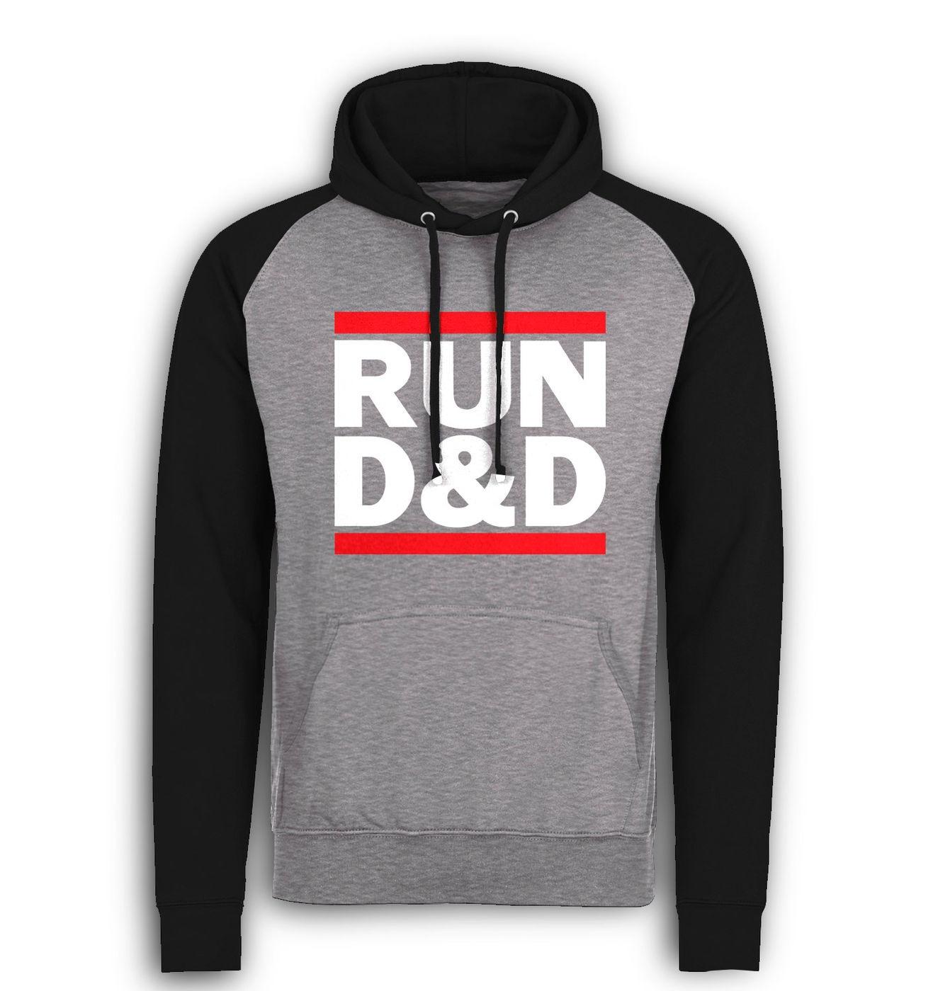 RUN D&D baseball hoodie by Something Geeky