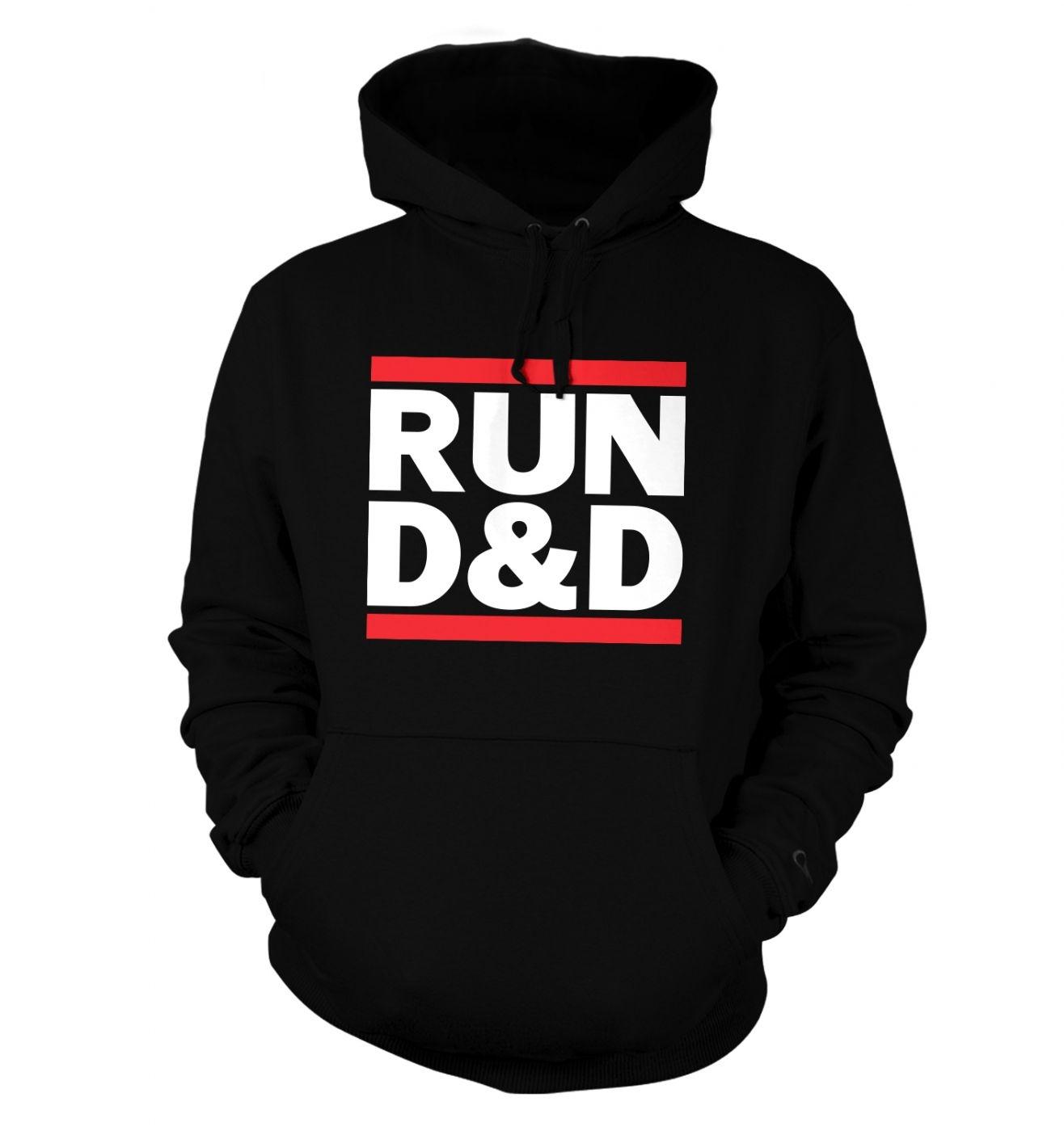 RUN D&D hoodie - RUN DnD hoody - funny hoodie for RPG gamers