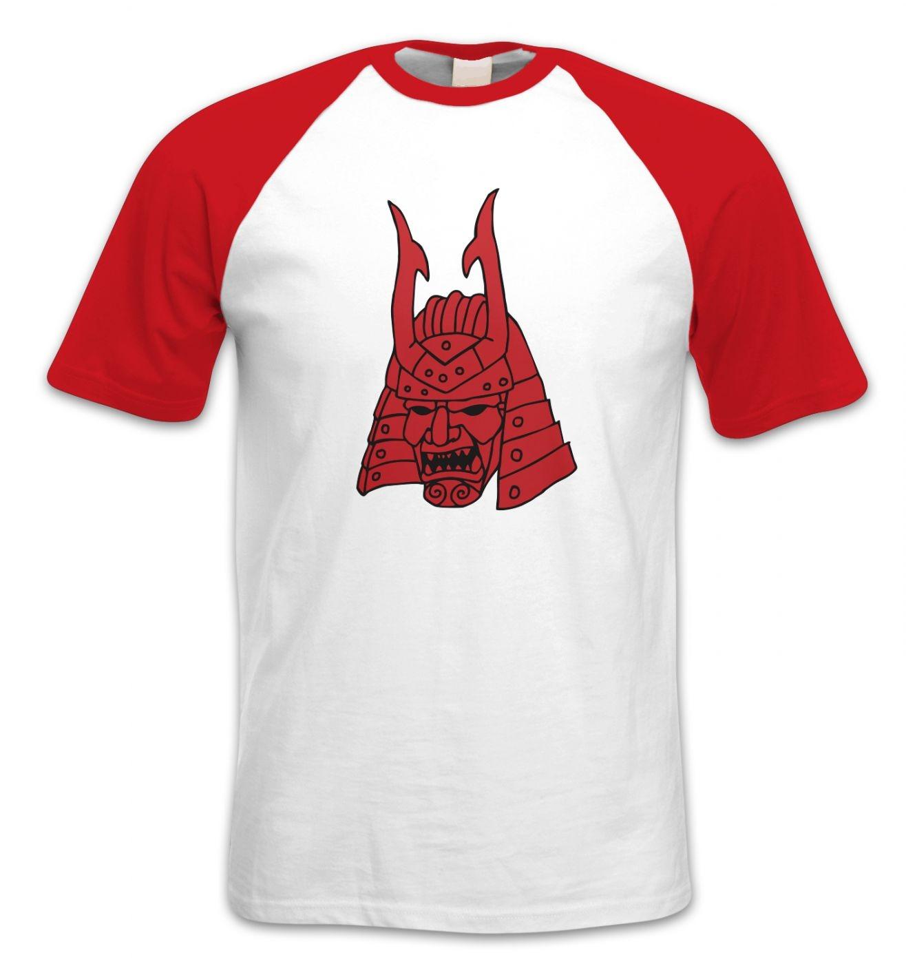 Samurai Helmet Japanese short-sleeved baseball t-shirt