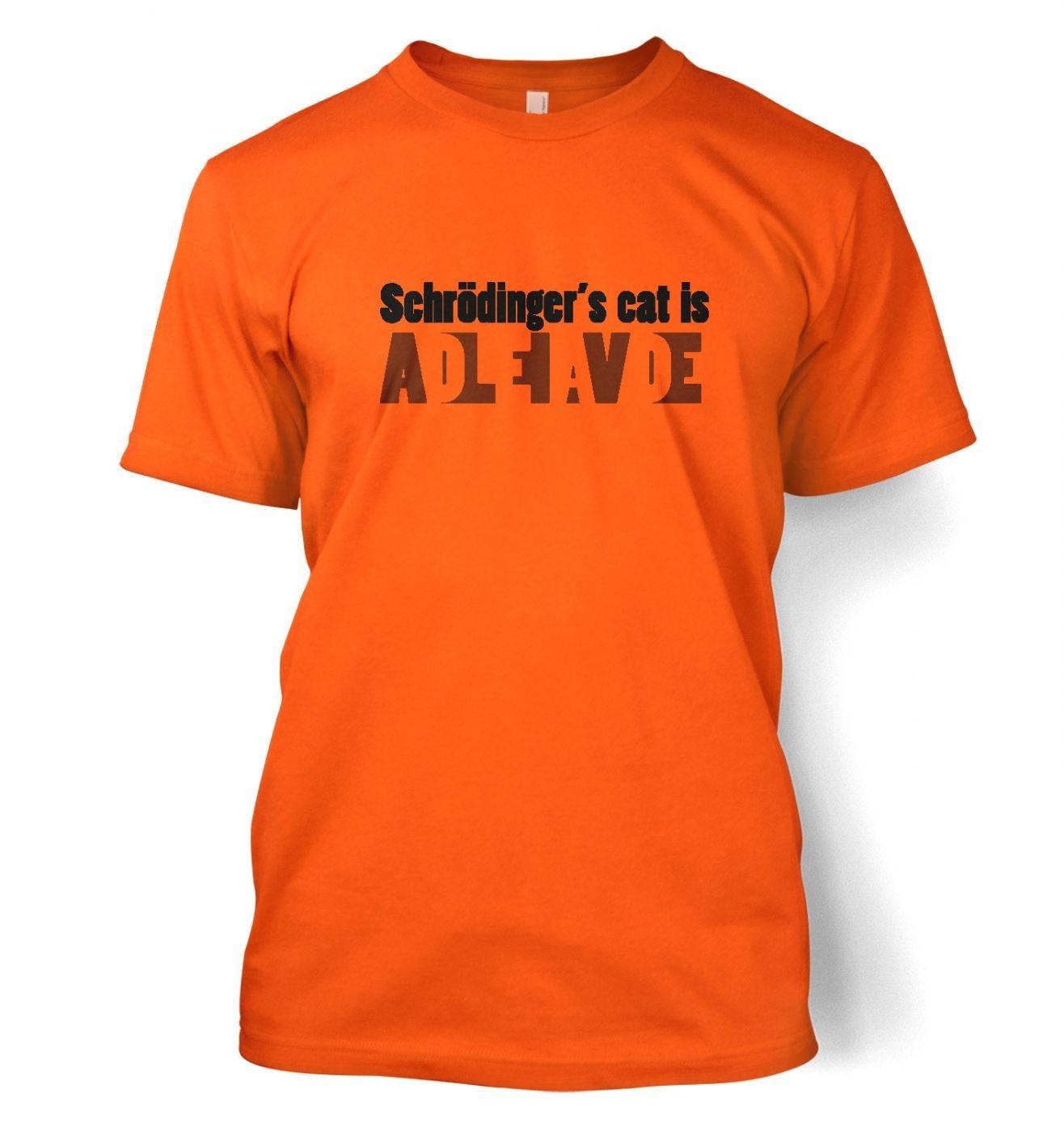 Schrodinger's Cat Is Dead And Alive men's t-shirt