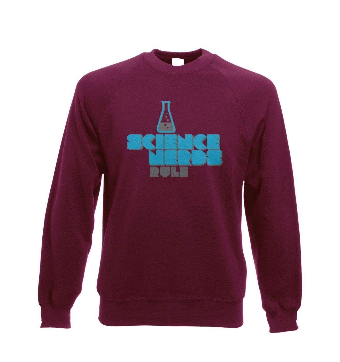 Science Nerds Rule - Adult Crewneck Sweatshirt