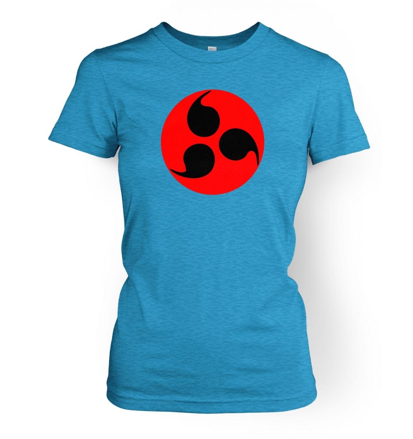 Sharingan Eye women's fitted t-shirt