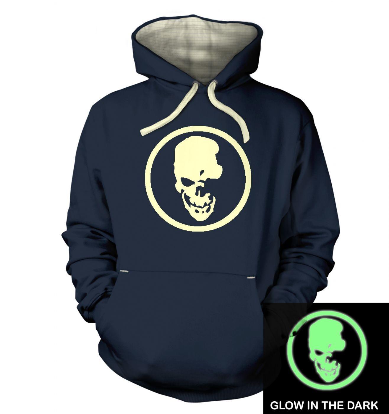 Shinigami Skull (glow in the dark) premium hoodie