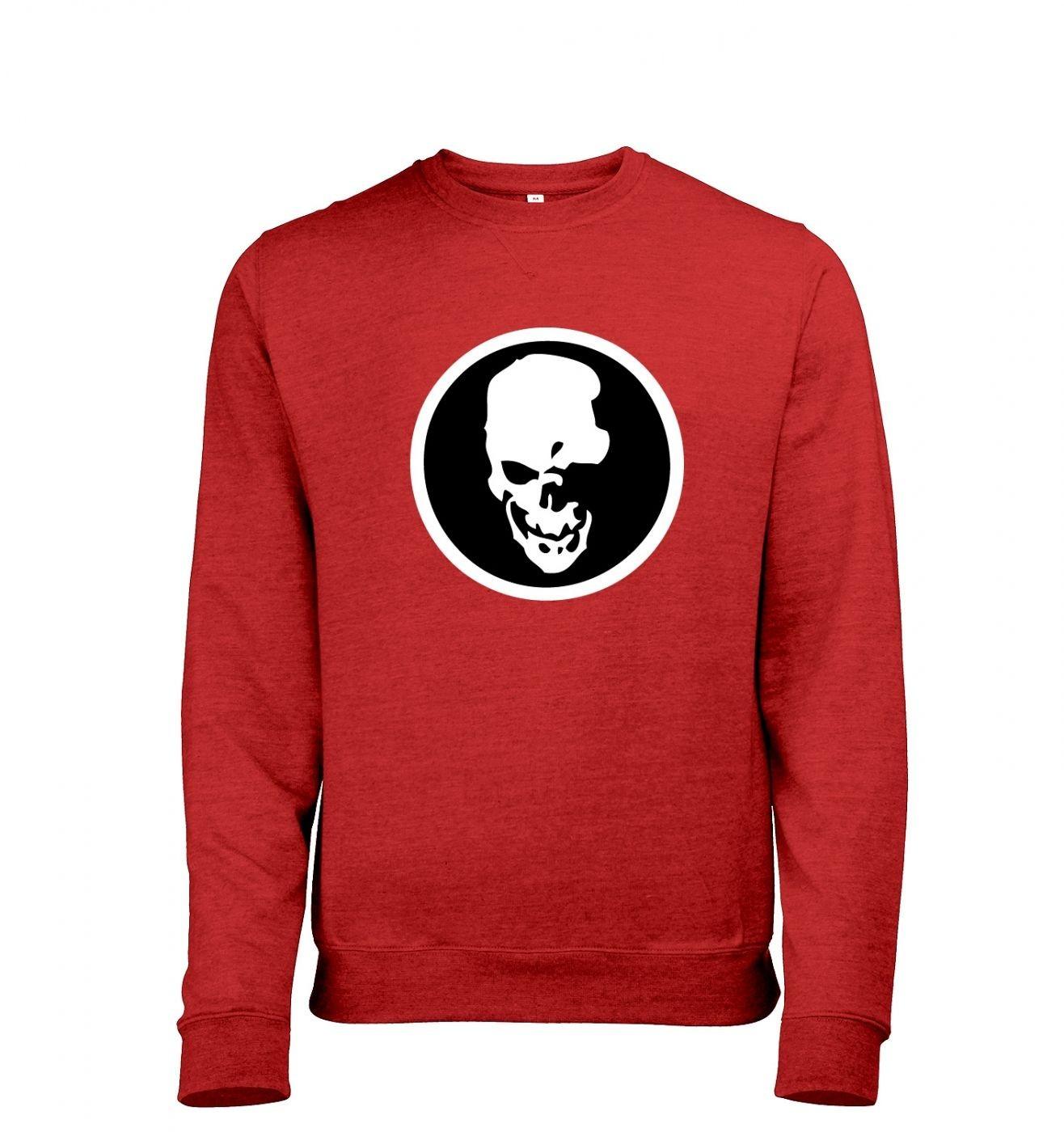 Shinigami Skull Mens Heather Sweatshirt   - Inspired by Death Note