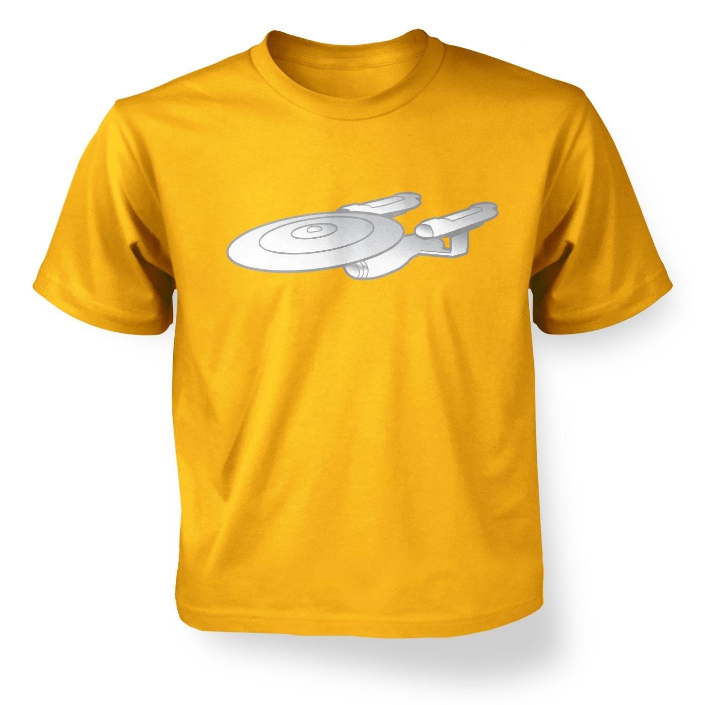 Silver Starship Enterprise kids' t-shirt