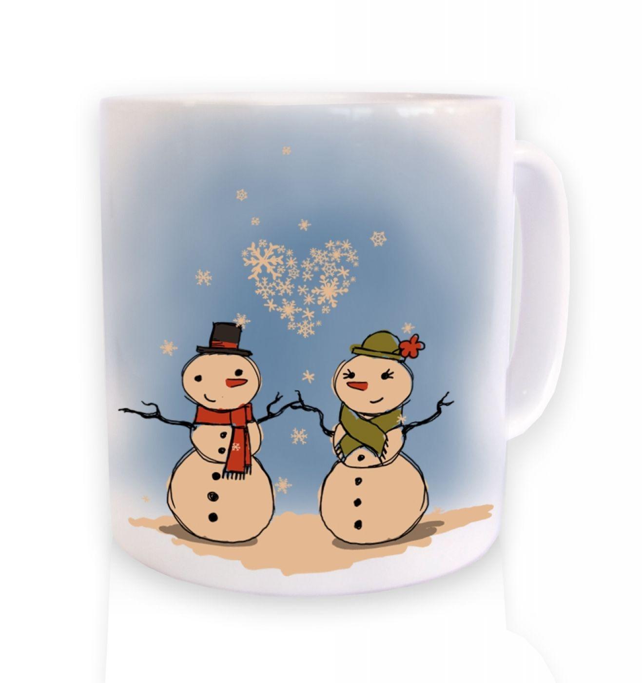 Snowmen In Love Christmas Mug
