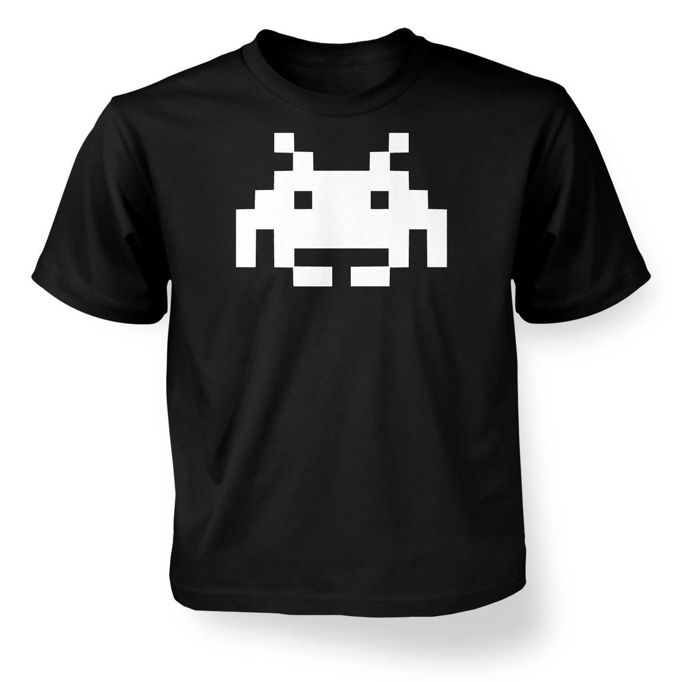 5a6eedf3 Alien Invader Pixel Art kids t-shirt - Somethinggeeky